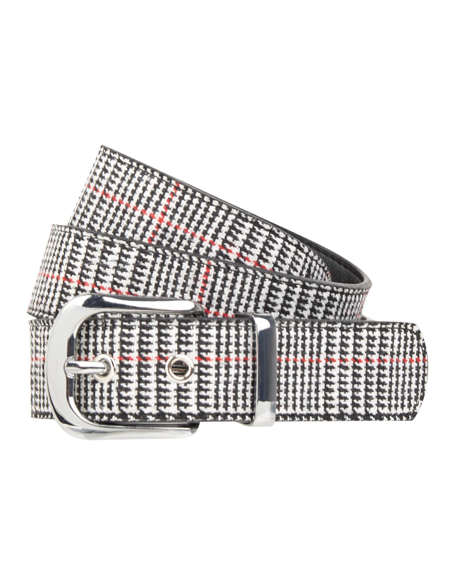 Damen Gürtel mit Pepita-Muster | Accessoires > Gürtel | Weiß | Takko