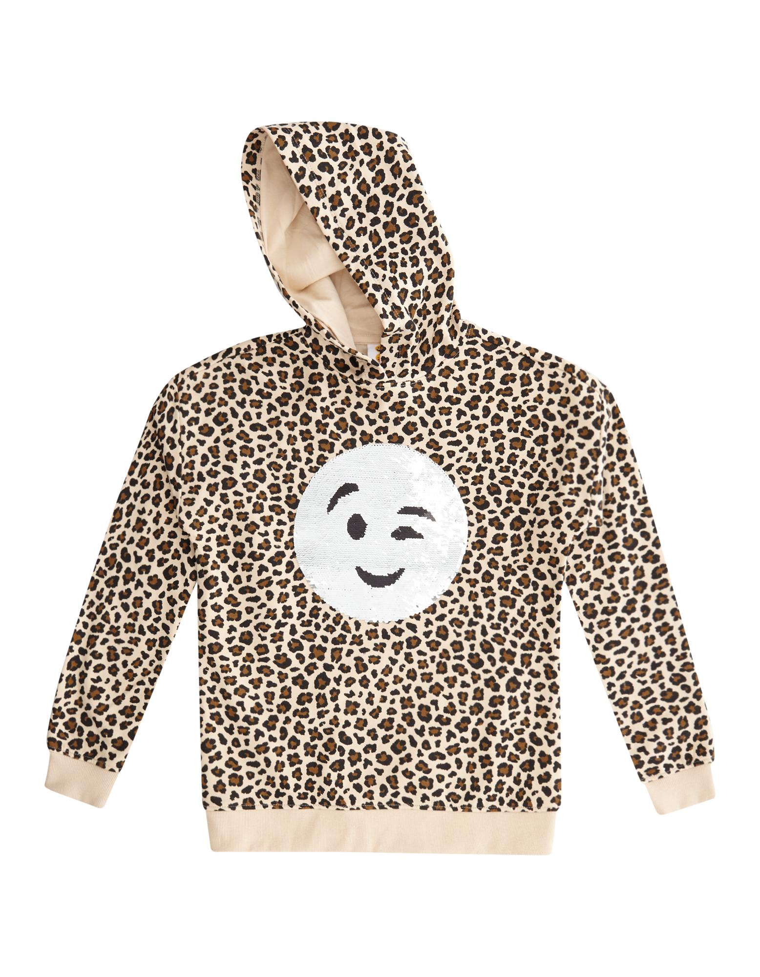 Mädchen Sweatshirt mit Wende-Pailletten leopard | 81520848150408