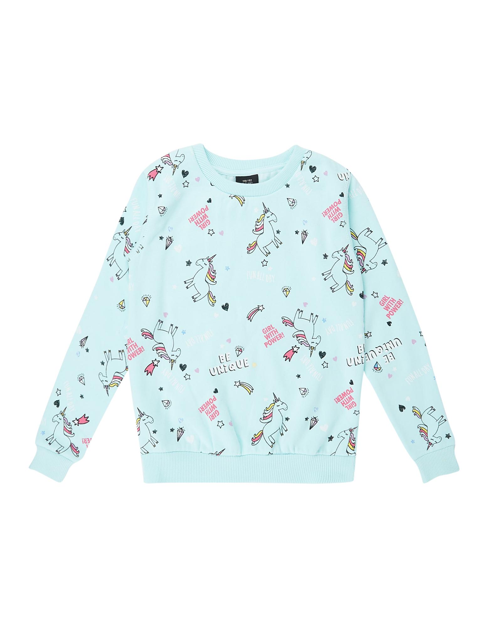 Mädchen Sweatshirt mit Allover-Print  | 81486375030203