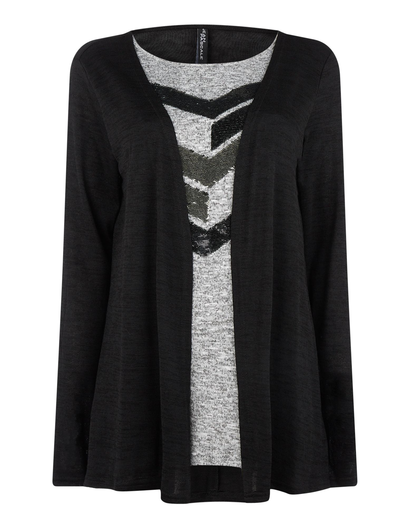 Damen Pullover mit Pailletten-Besatz | Bekleidung > Pullover > Sonstige Pullover | Schwarz | Takko