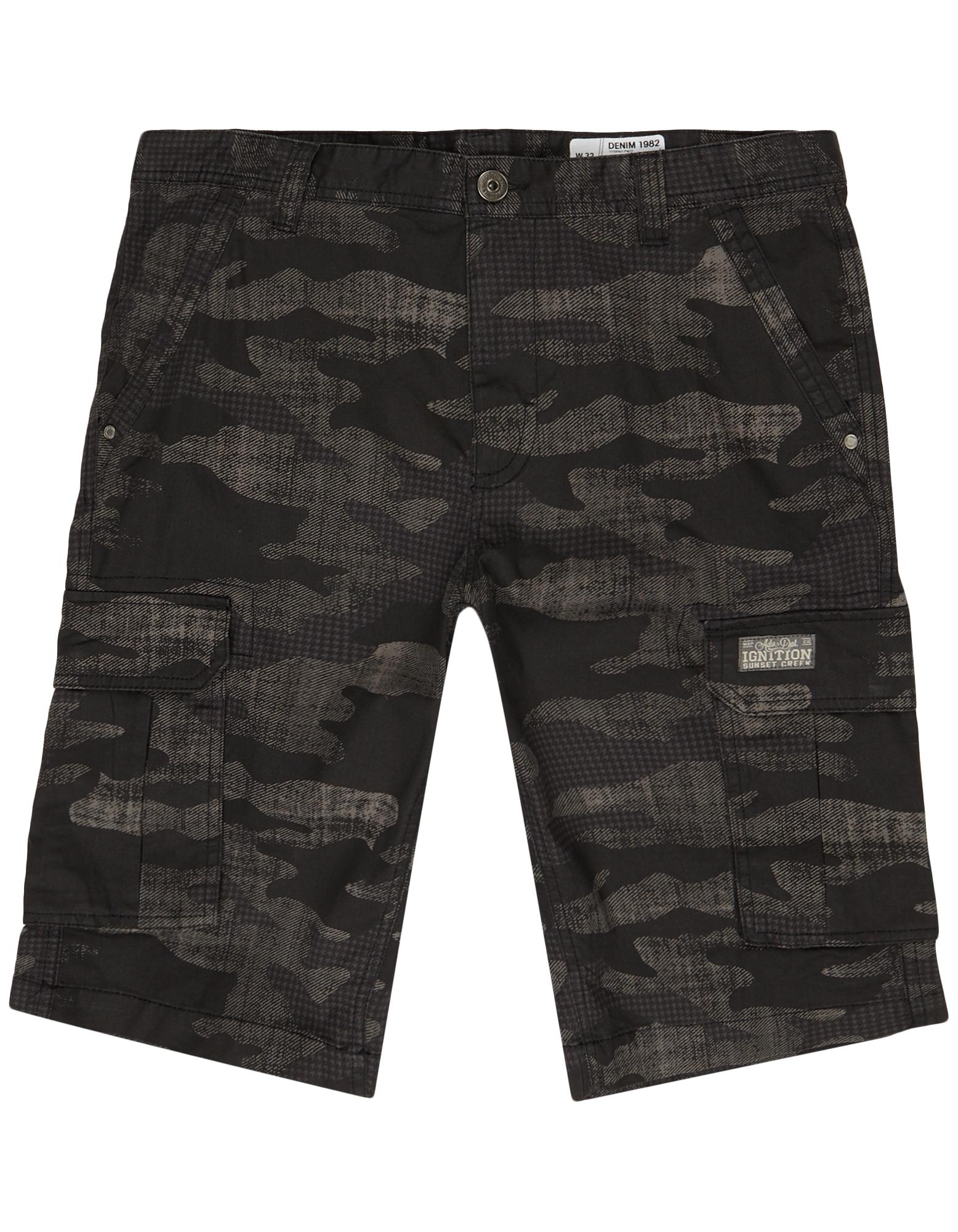 50b1c0d72ed0c Herren Cargo Shorts mit Camouflage-Muster - Takko Fashion