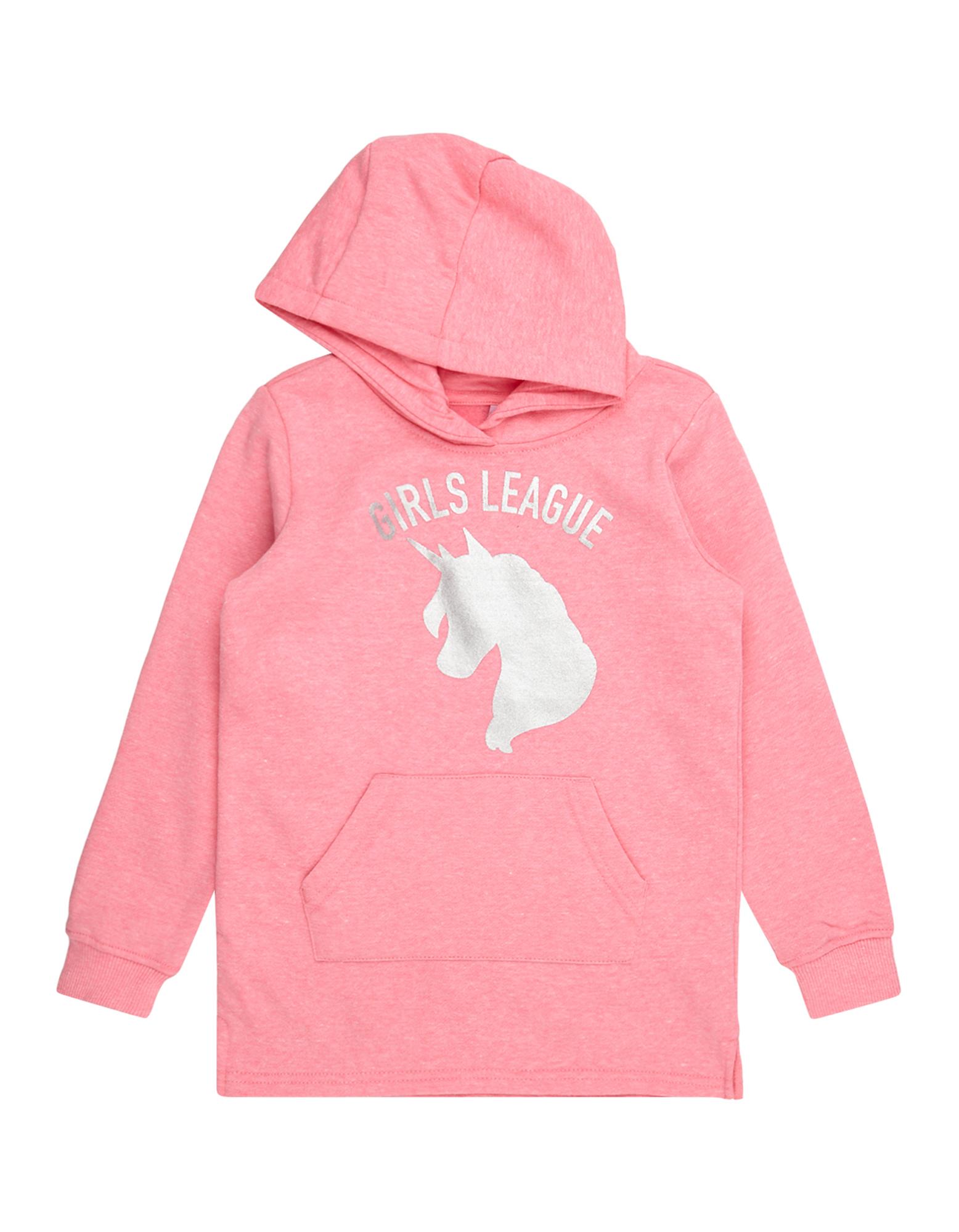Mädchen Sweatshirt mit Kapuze und Print  | 81512404420704