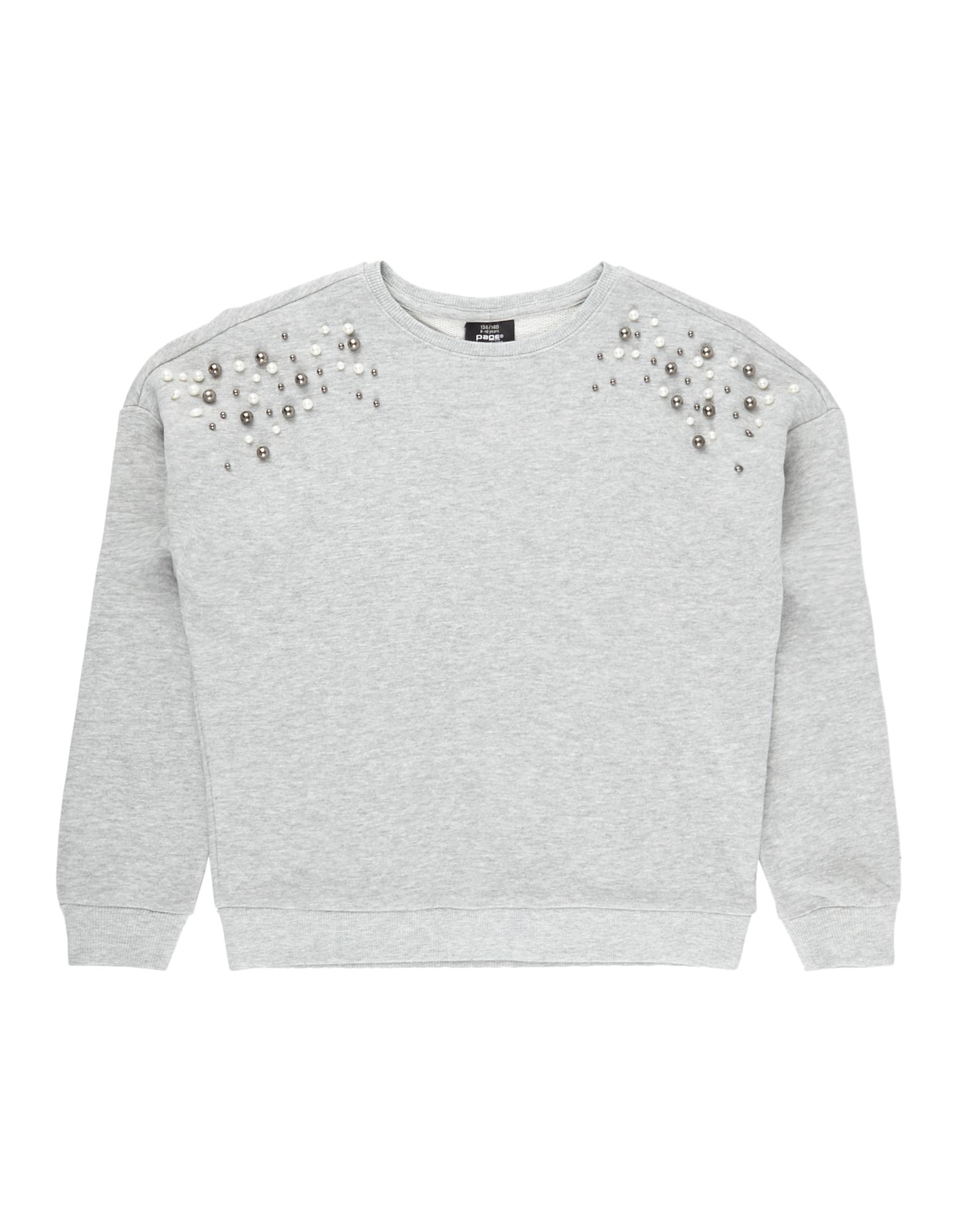 Mädchen Sweatshirt mit Zierperlenbesatz  | 81539341370305