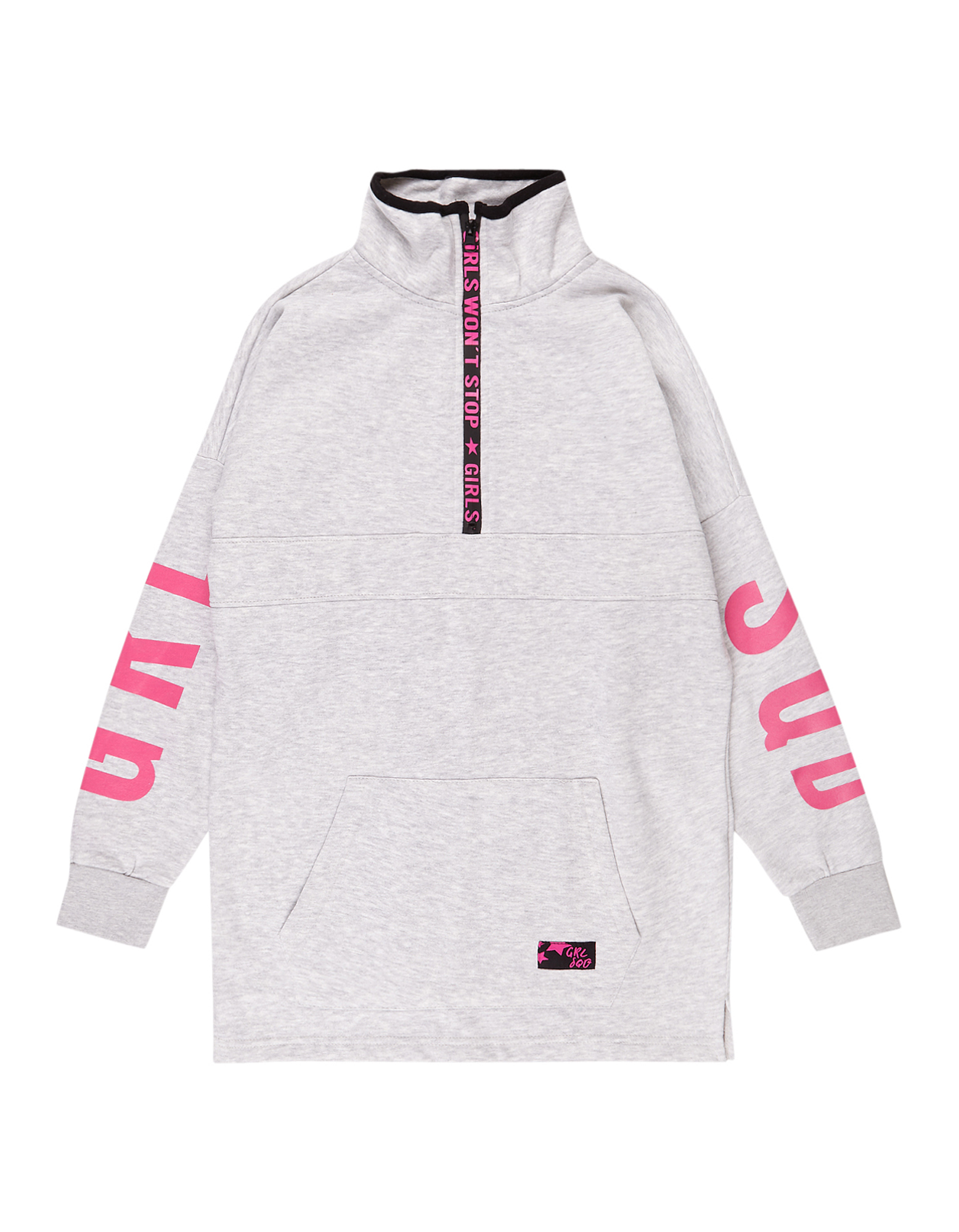 Mädchen Sweatshirt in Melangeoptik  | 81523621370307