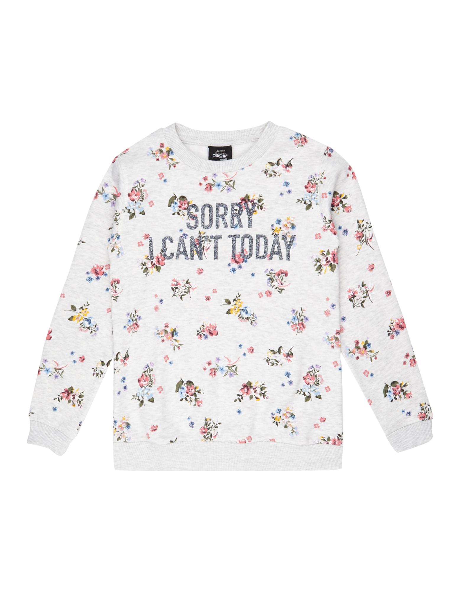 Mädchen Sweatshirt mit Allover- und Glitzer-Print    81556381370409