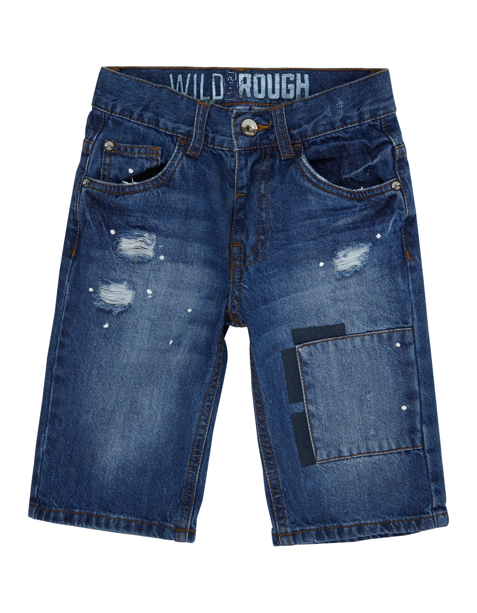 Jungen 5-Pocket-Jeansshorts im Destroyed Look  | 81458595830505