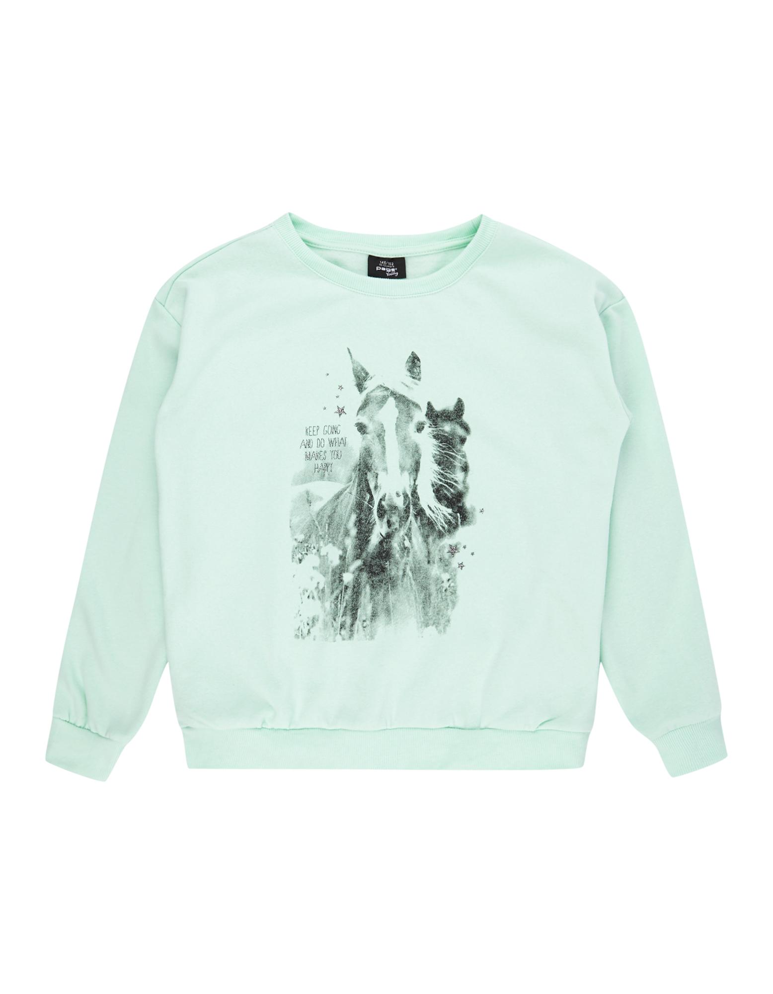 Mädchen Sweatshirt mit Print  | 81488016120205