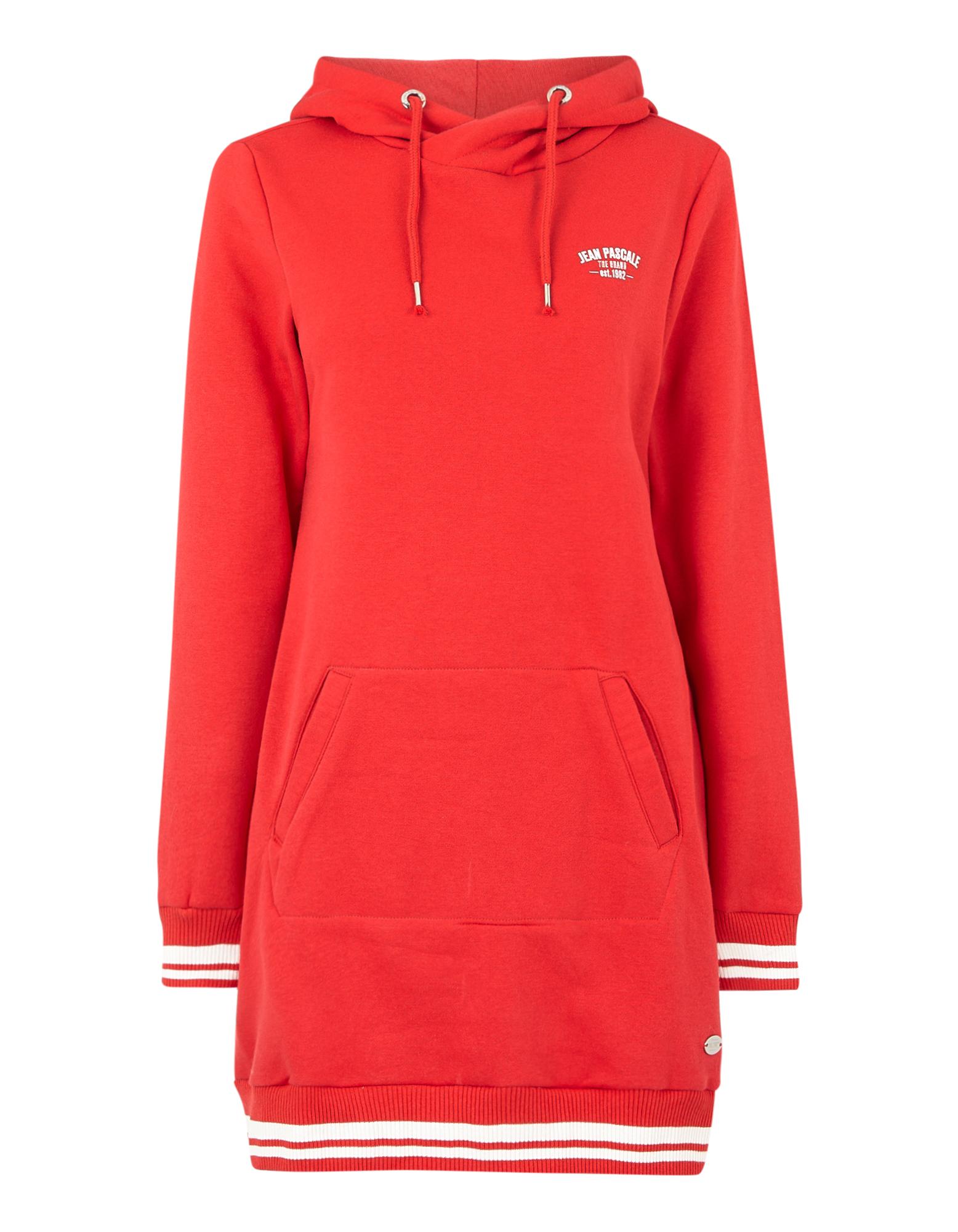 Damen Sweatkleid mit Kapuze | Bekleidung > Kleider > Sweatkleider | Rot | Takko