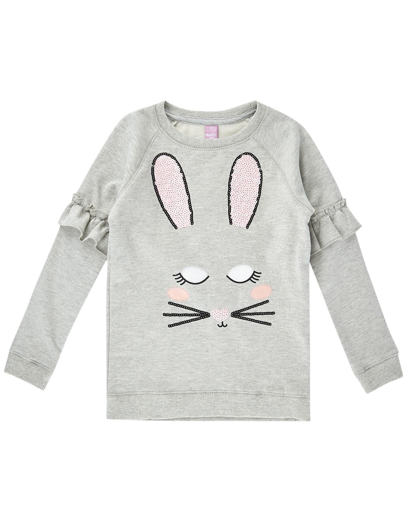Mädchen Sweatshirt mit Pailletten-Besatz  | 81512491570801