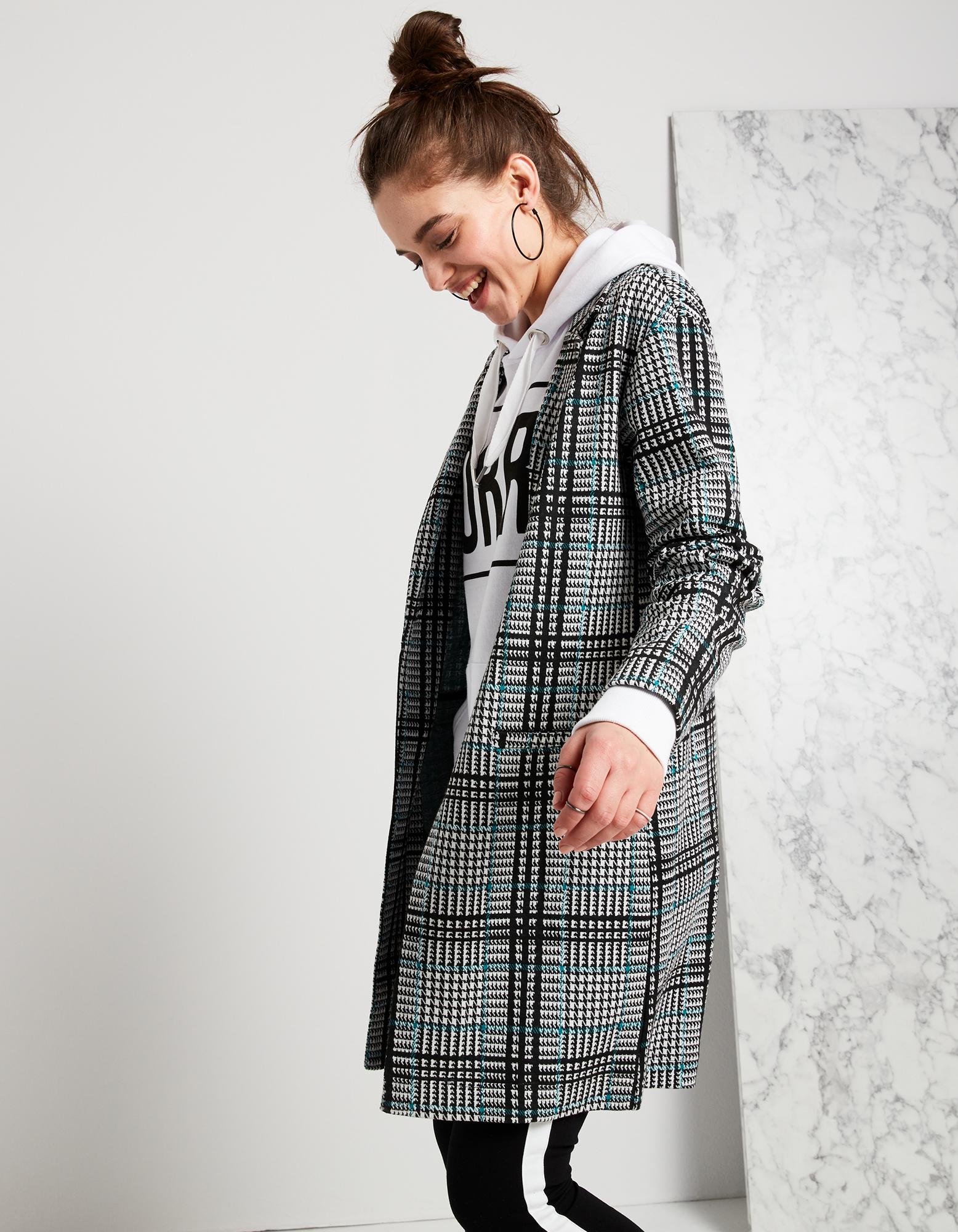 Damen Mantel mit Glencheck Takko Fashion