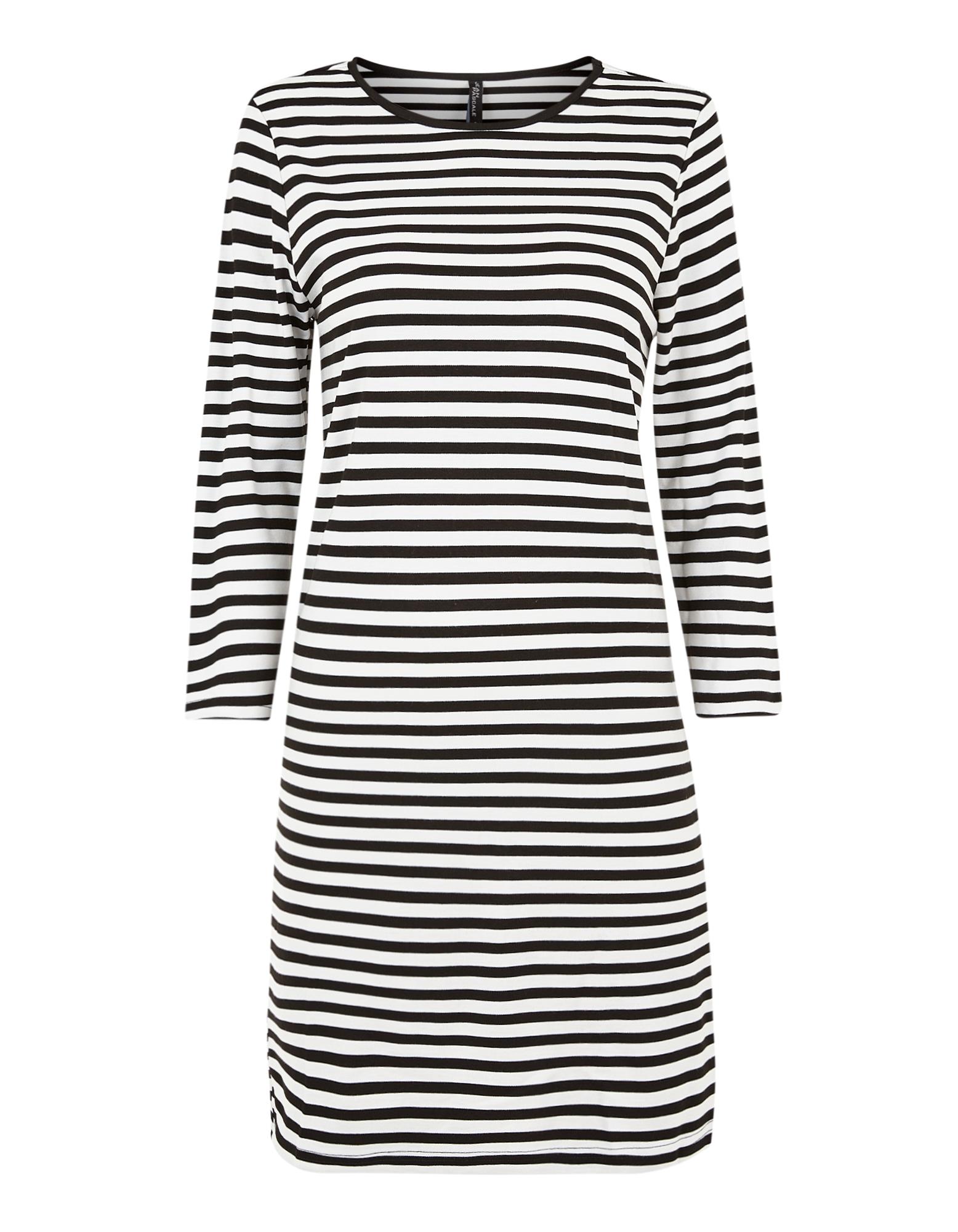 Damen Sweatkleid mit Streifenmuster | Bekleidung > Kleider > Sweatkleider | Schneeweiß | Takko