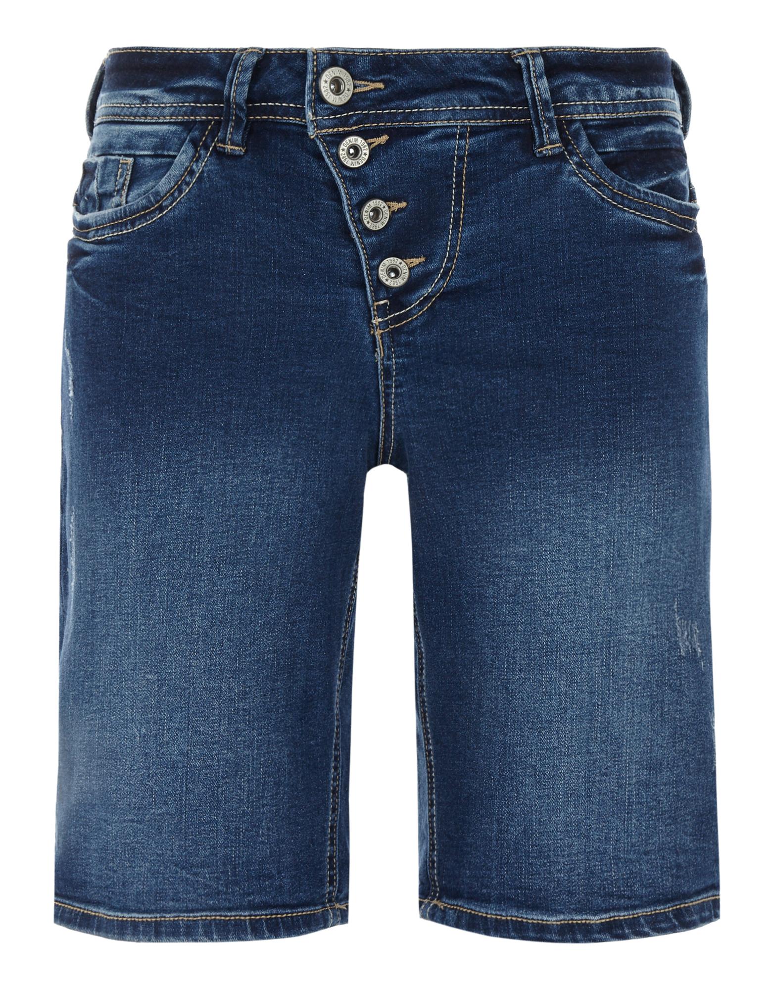 Denim 1982 Damen Stone Washed Jeansshorts im Used Look    81630551000706