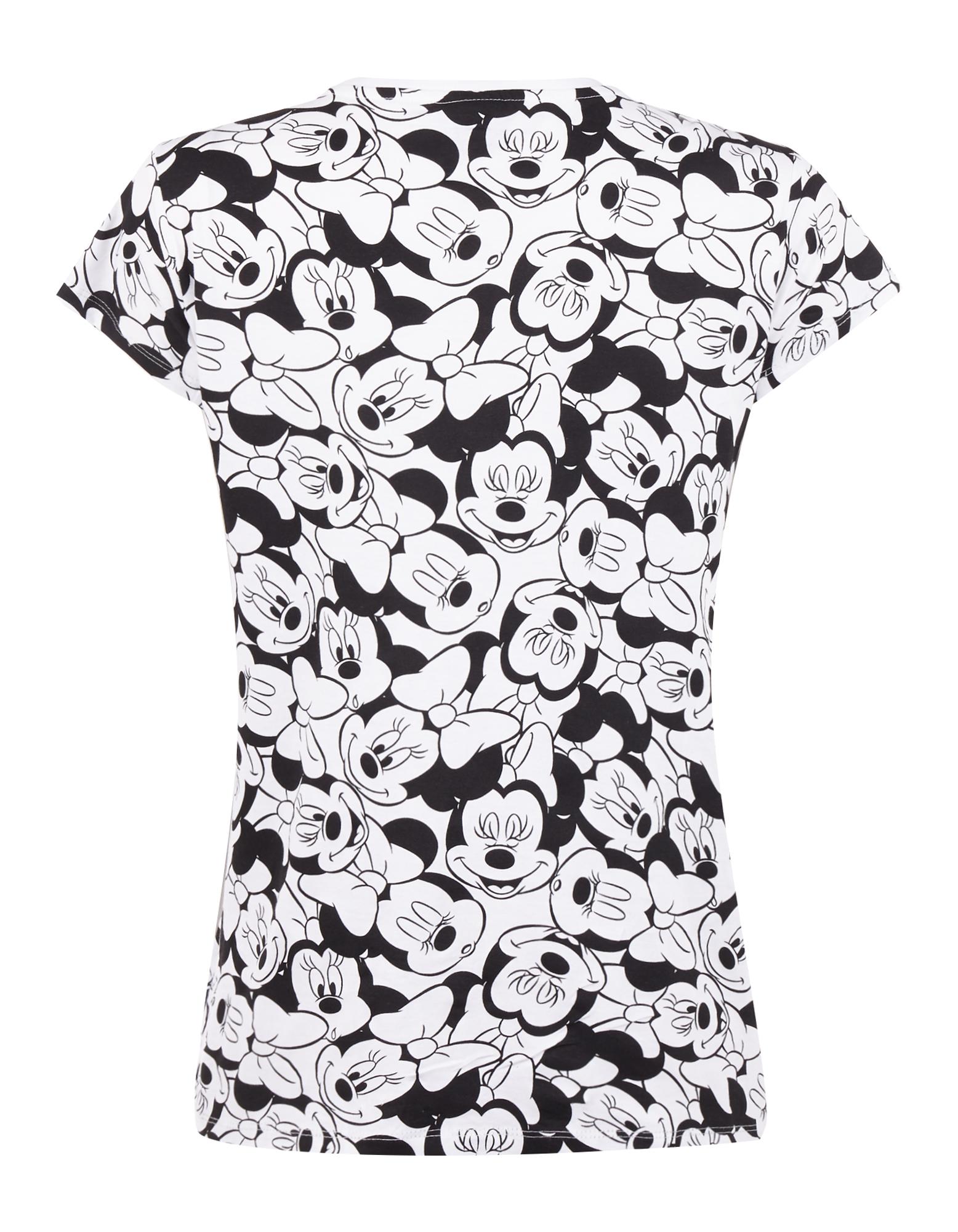 Damen T Shirt Mit Minnie Mouse Print Takko Fashion