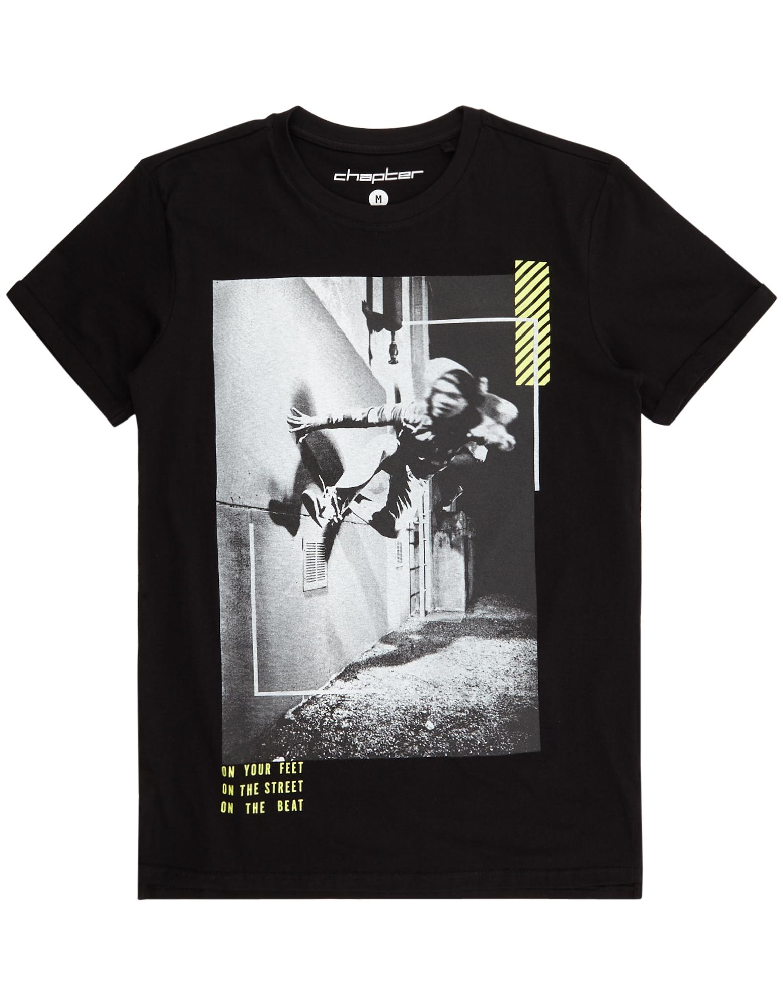Herren T-Shirt mit Motiv-Print    81502461800304
