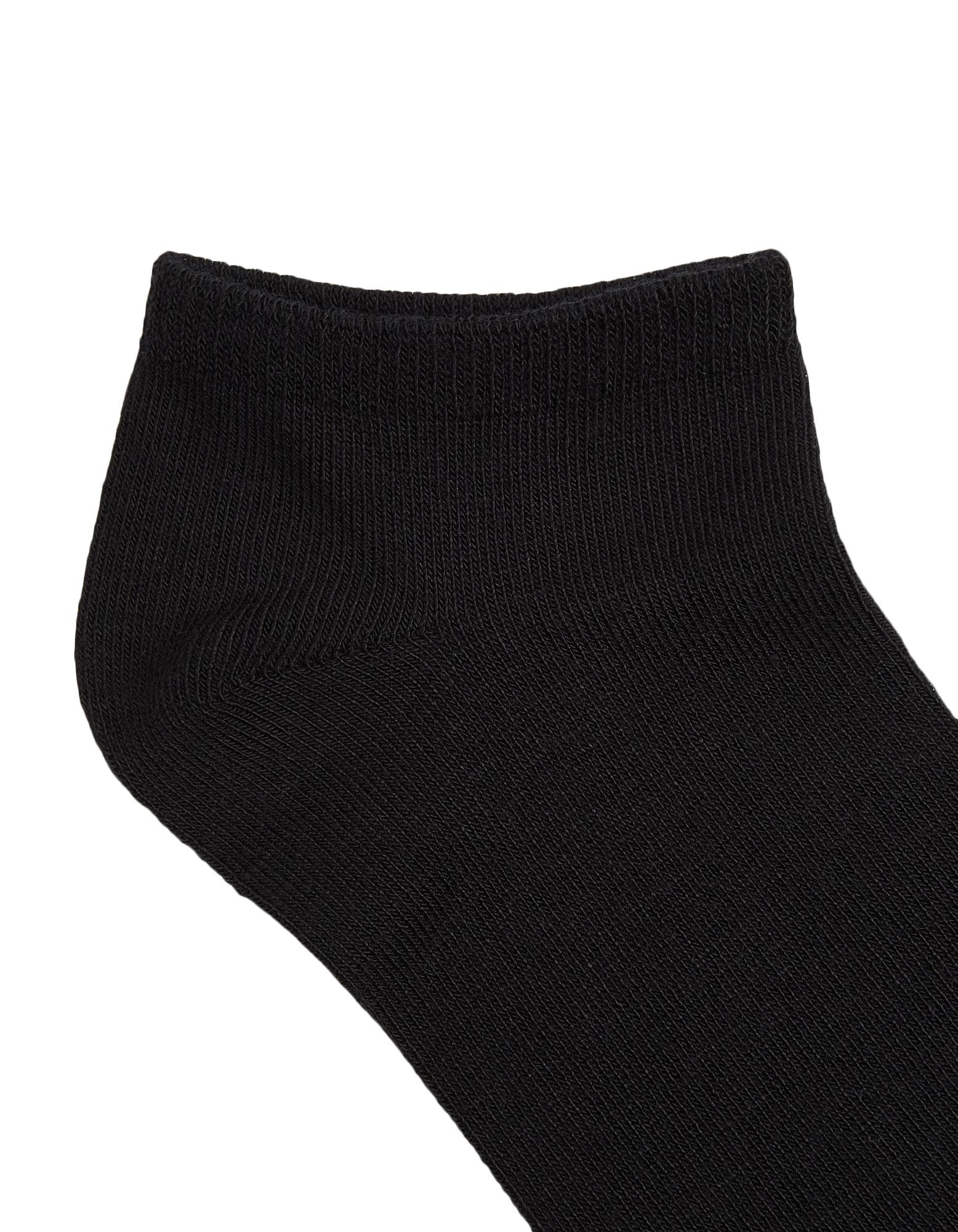 für Damen und Herren im 3er Pack schwarz Bambus-Sneaker-Socken