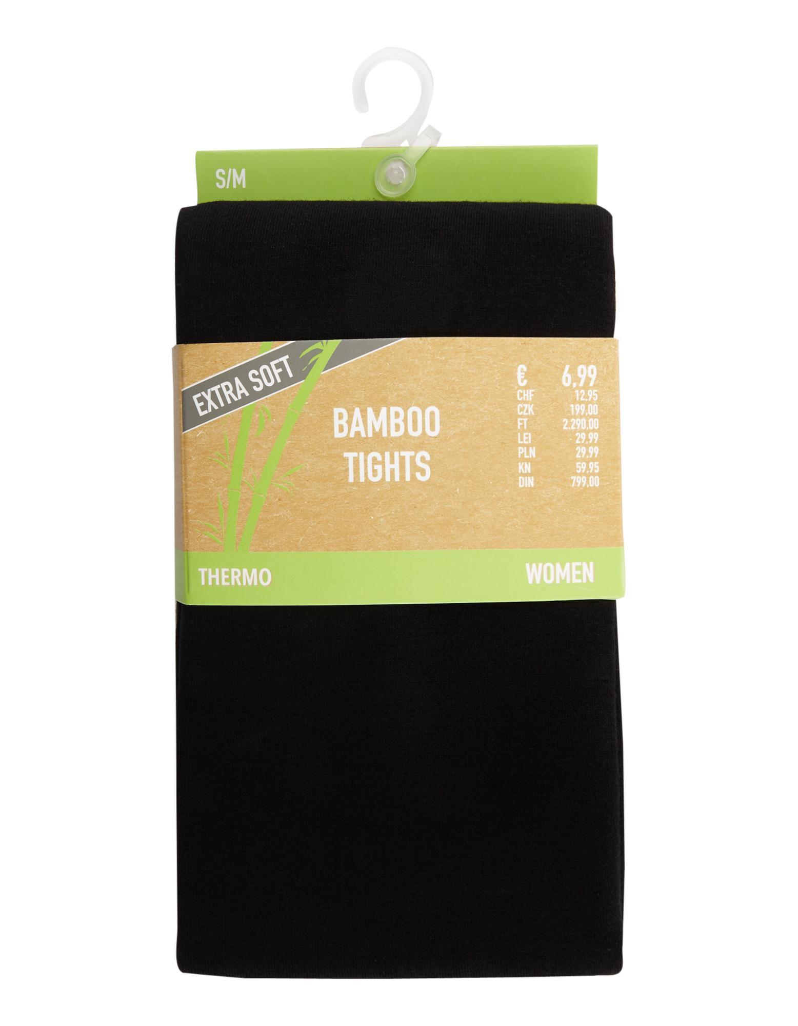Damen Bamboo Thermo Strumpfhosen mit Komfortbund    81575831900300