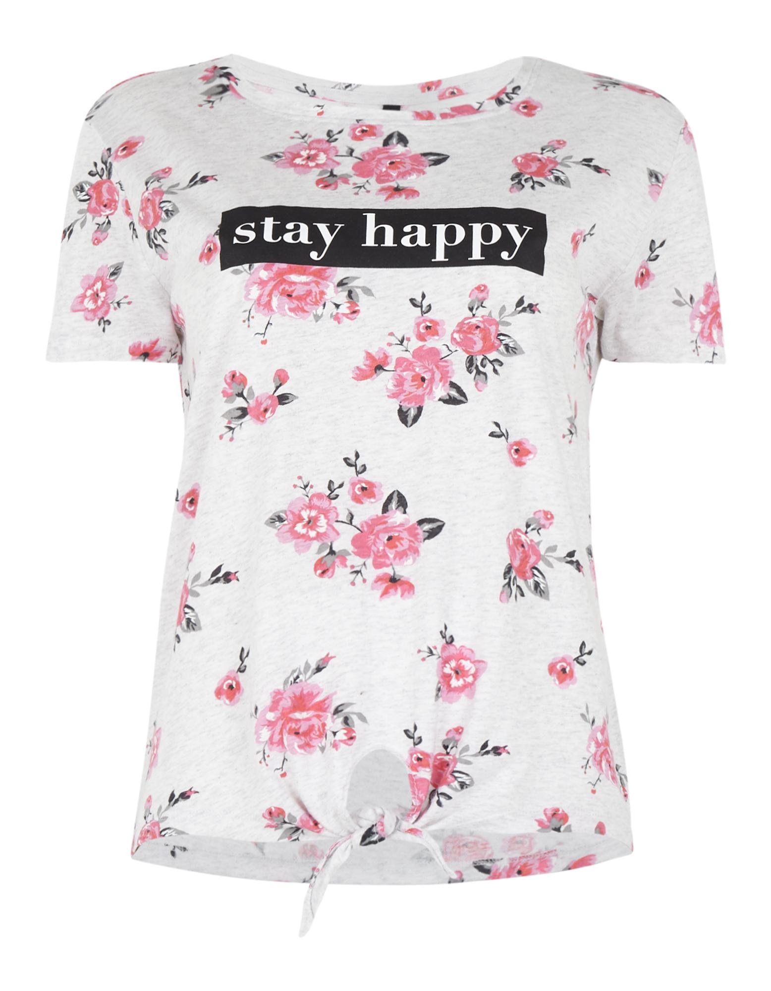 67ab5d6d7d7c9d Damen T-Shirt mit floralem Muster - Takko Fashion
