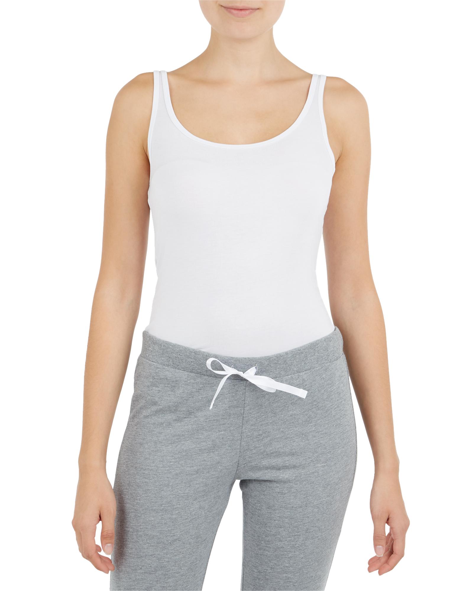 Damen Unterhemd mit schmalen Trägern    81536641000208