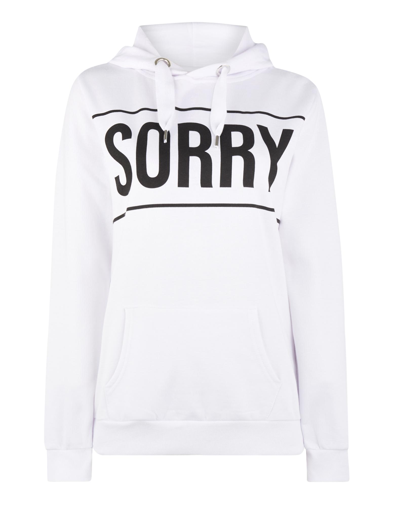 Damen Hoodie mit Message-Print | Bekleidung > Sweatshirts & -jacken > Hoodies | Weiß | Takko