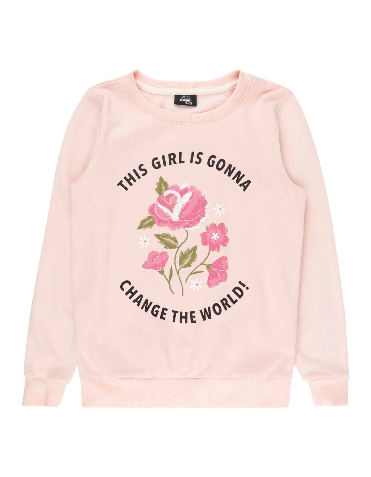 Mädchen Sweatshirt mit Print und Message  | 81486274220200