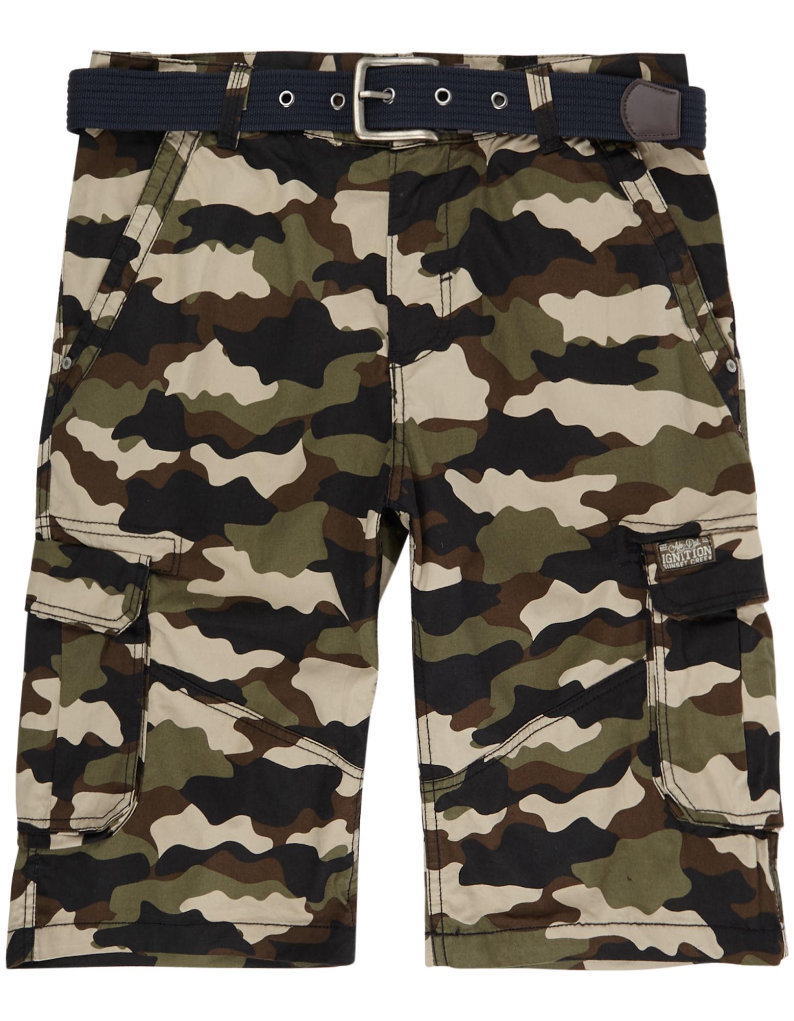 Herren Cargobermudas mit Camouflage-Muster  | 81436577910605