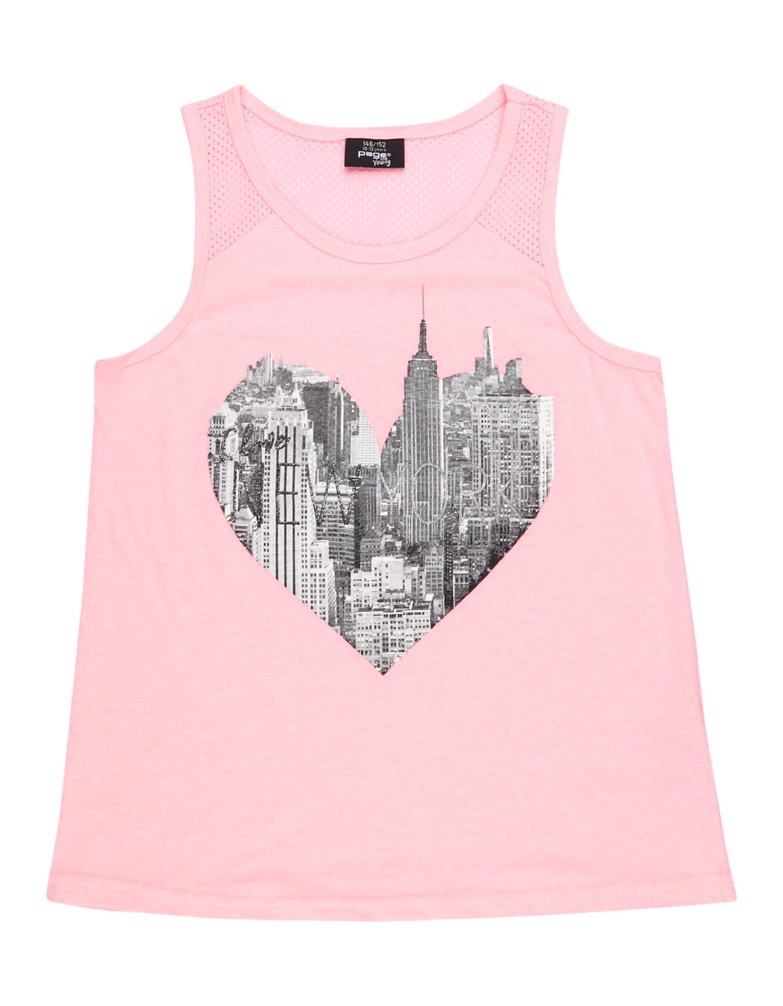 Mädchen Tanktop mit New York-Print  | 81495954350106
