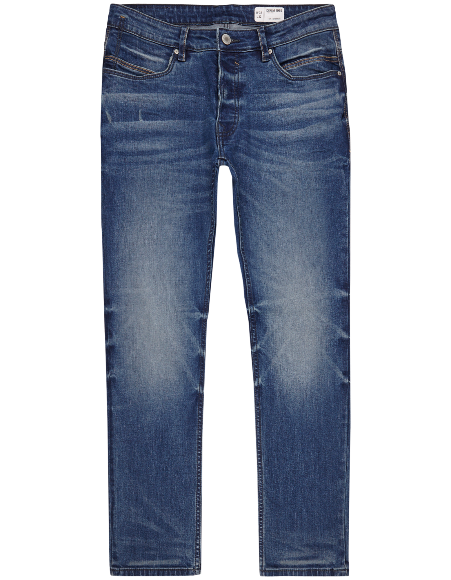 Herren Straight Fit Jeans im Used Look  | 81511669950506