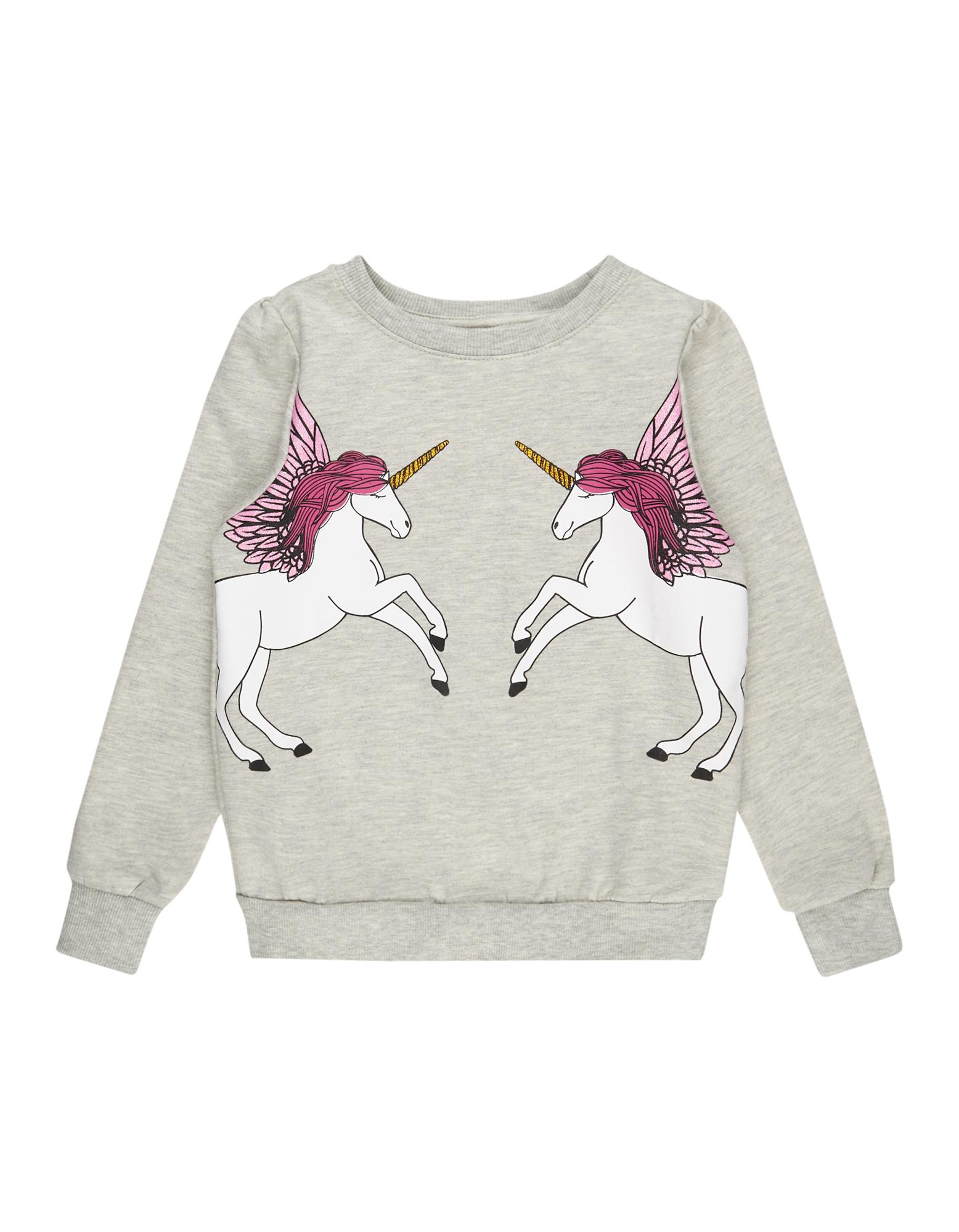 Mädchen Sweatshirt mit Einhorn-Print  | 81487261270406