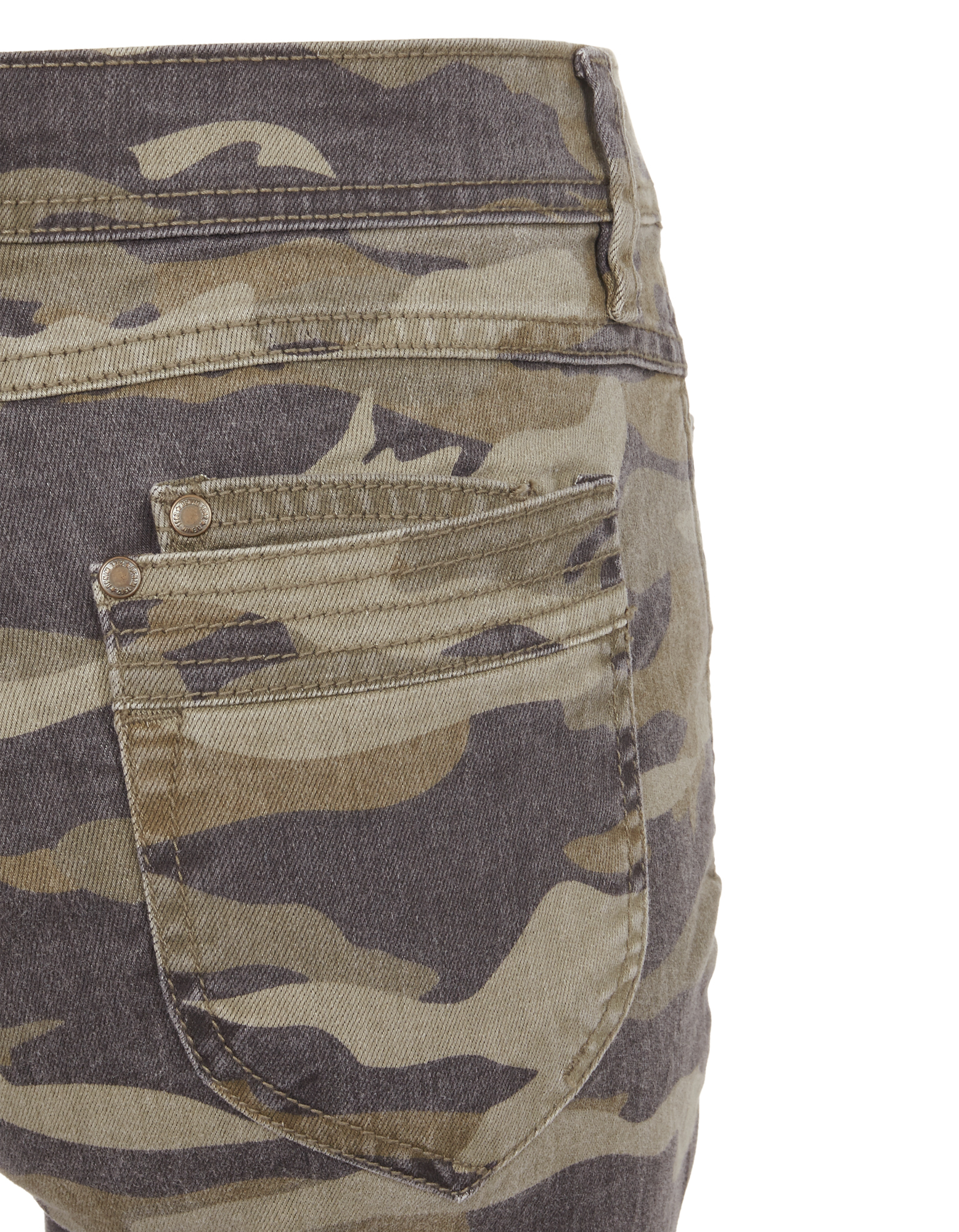damen slim fit jeans mit camouflage muster - Jeans Mit Muster
