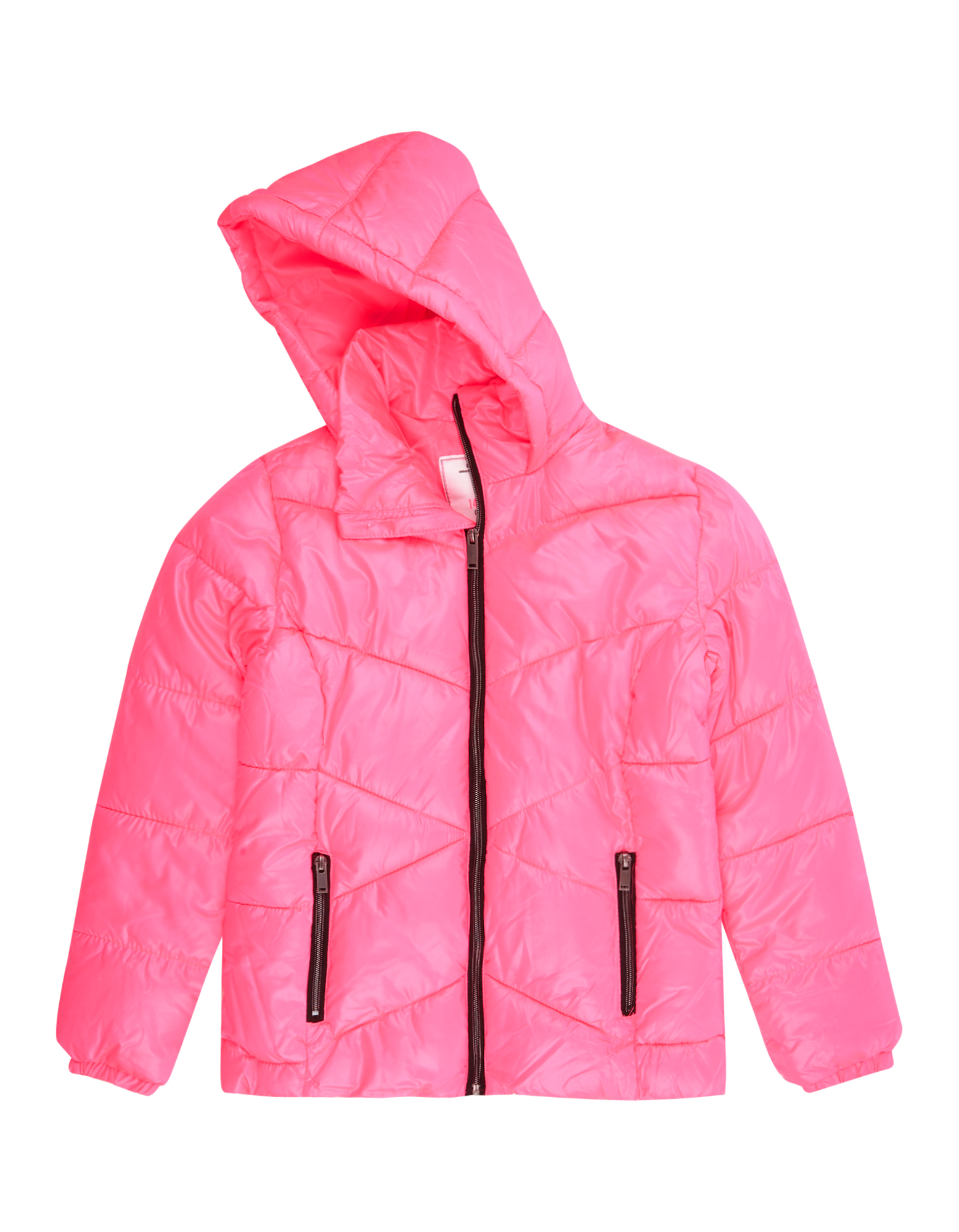 Mädchen Steppjacke mit Kapuze pink   81481744410303