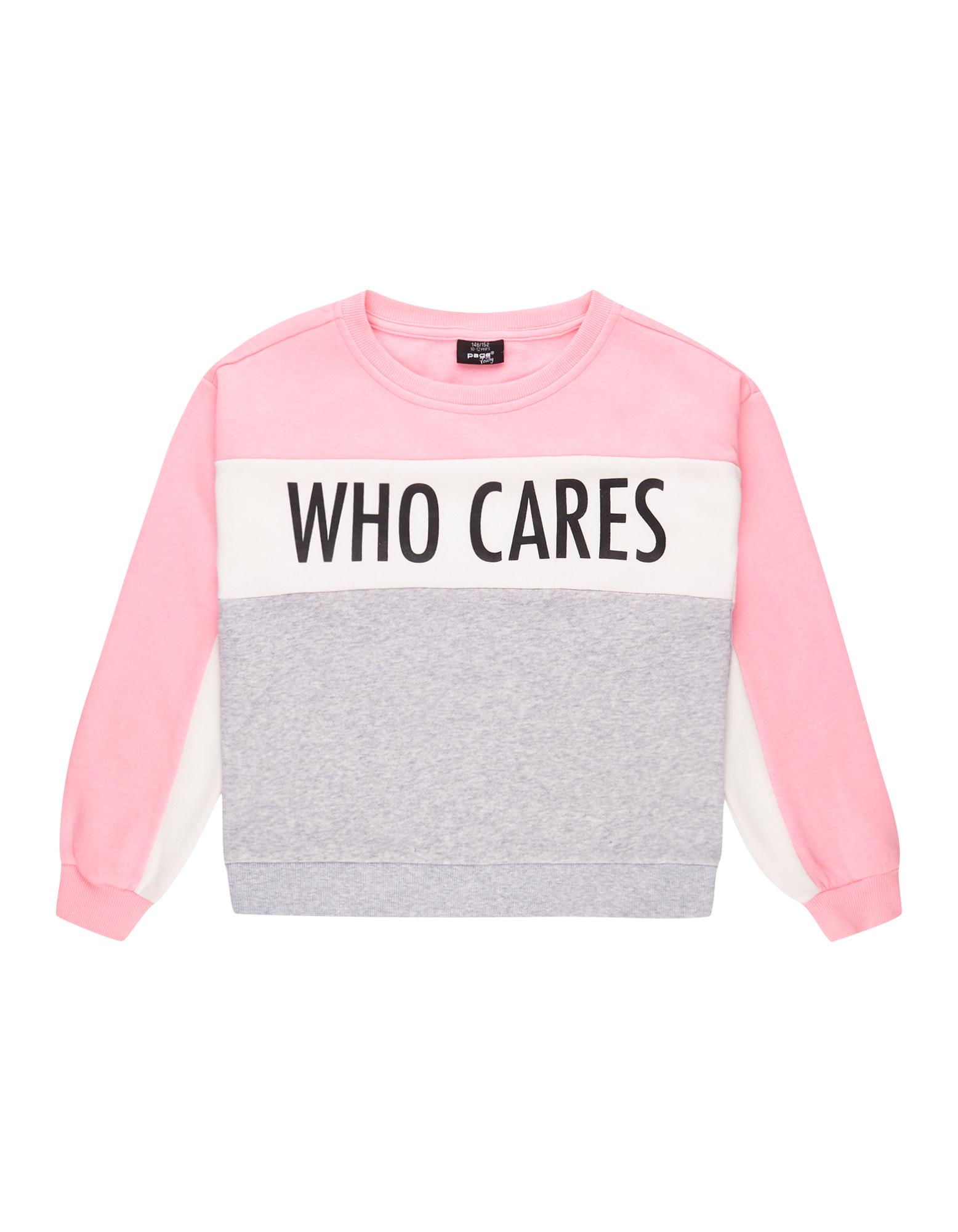 Mädchen Sweatshirt mit Message-Print  | 81569534030105