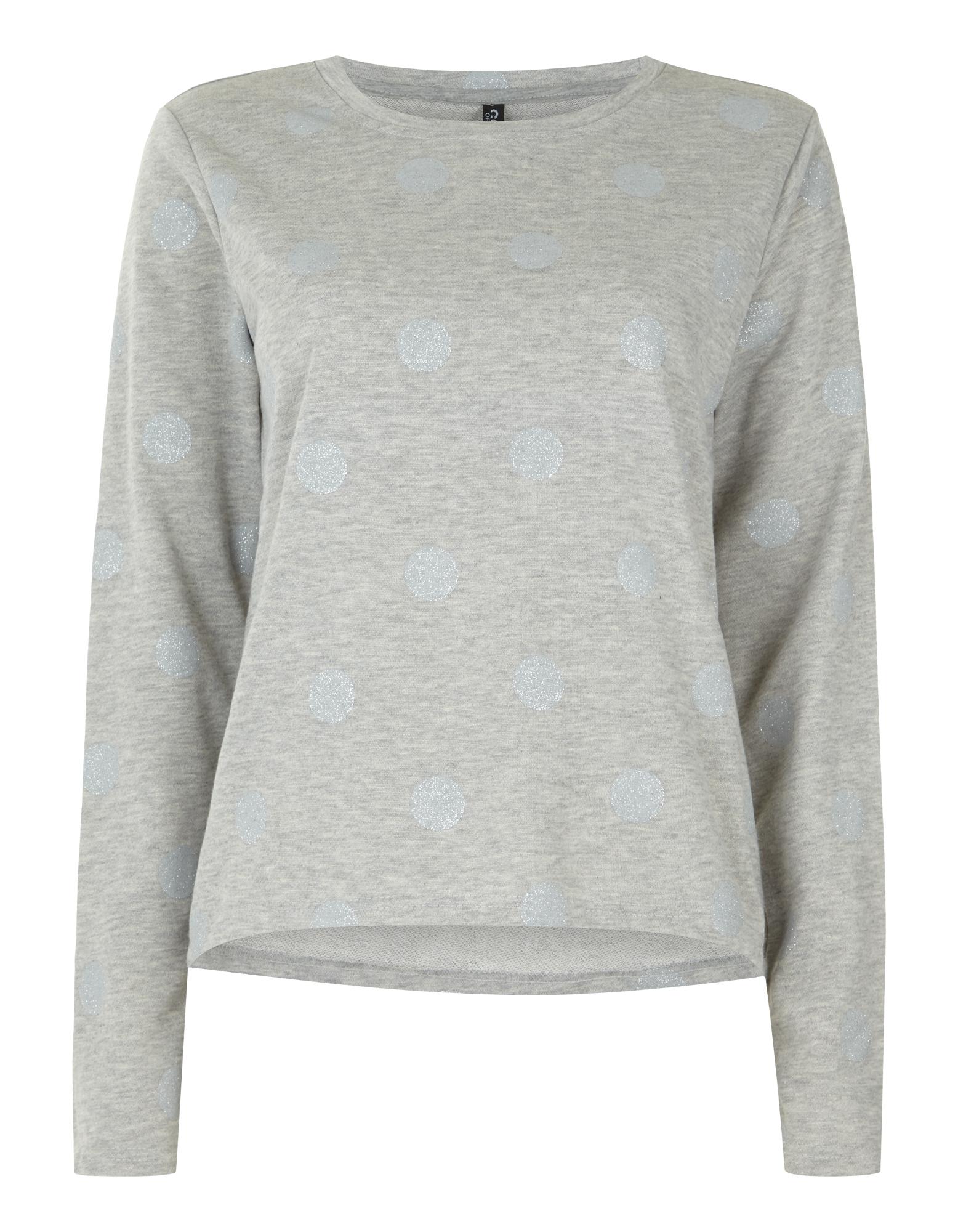 Damen Sweatshirt mit Punktemuster