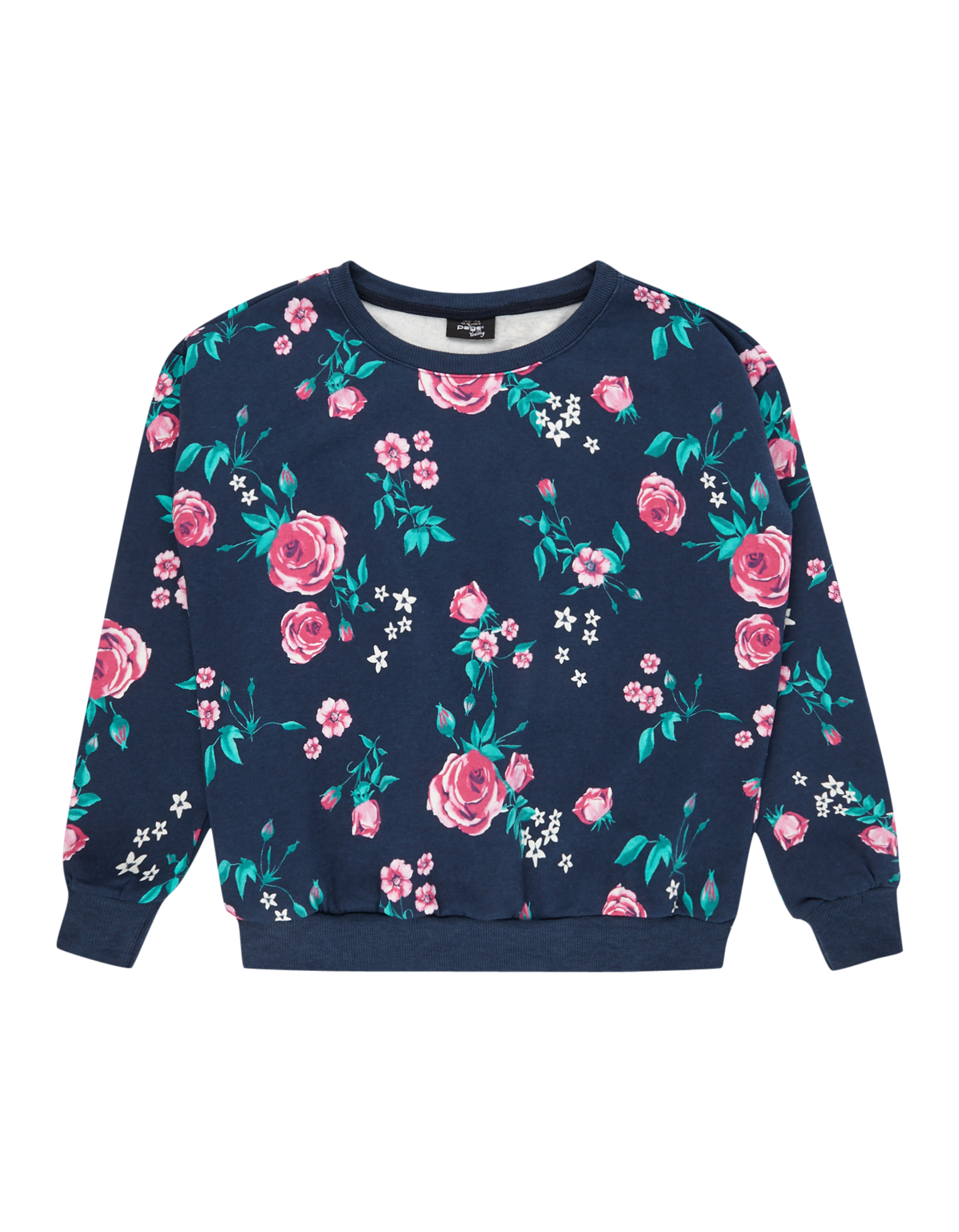 Mädchen Sweatshirt mit floralen Prints blau,bunt,mehrfarbig | 81488235700301