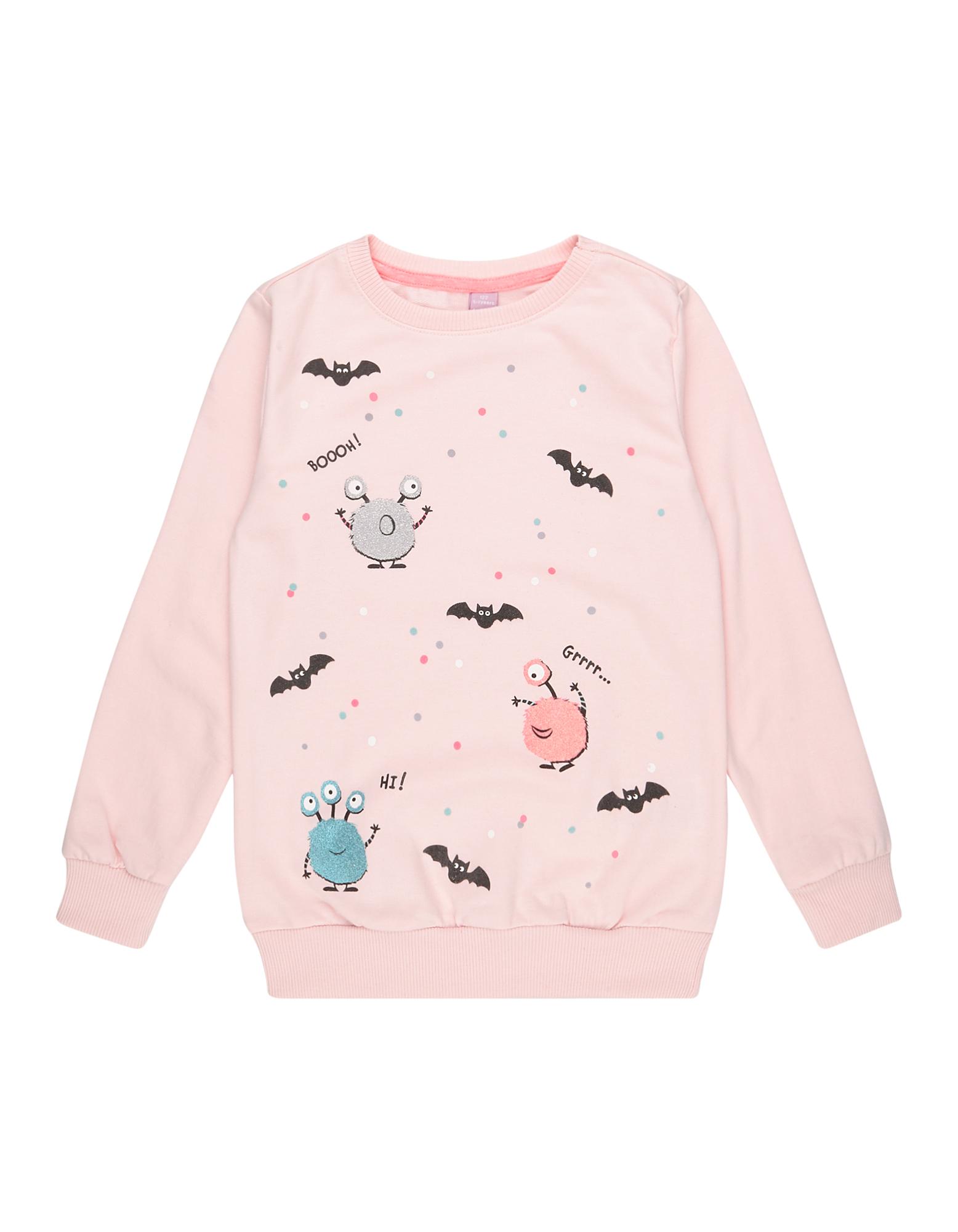 Mädchen Sweatshirt mit Print  | 81528724000809