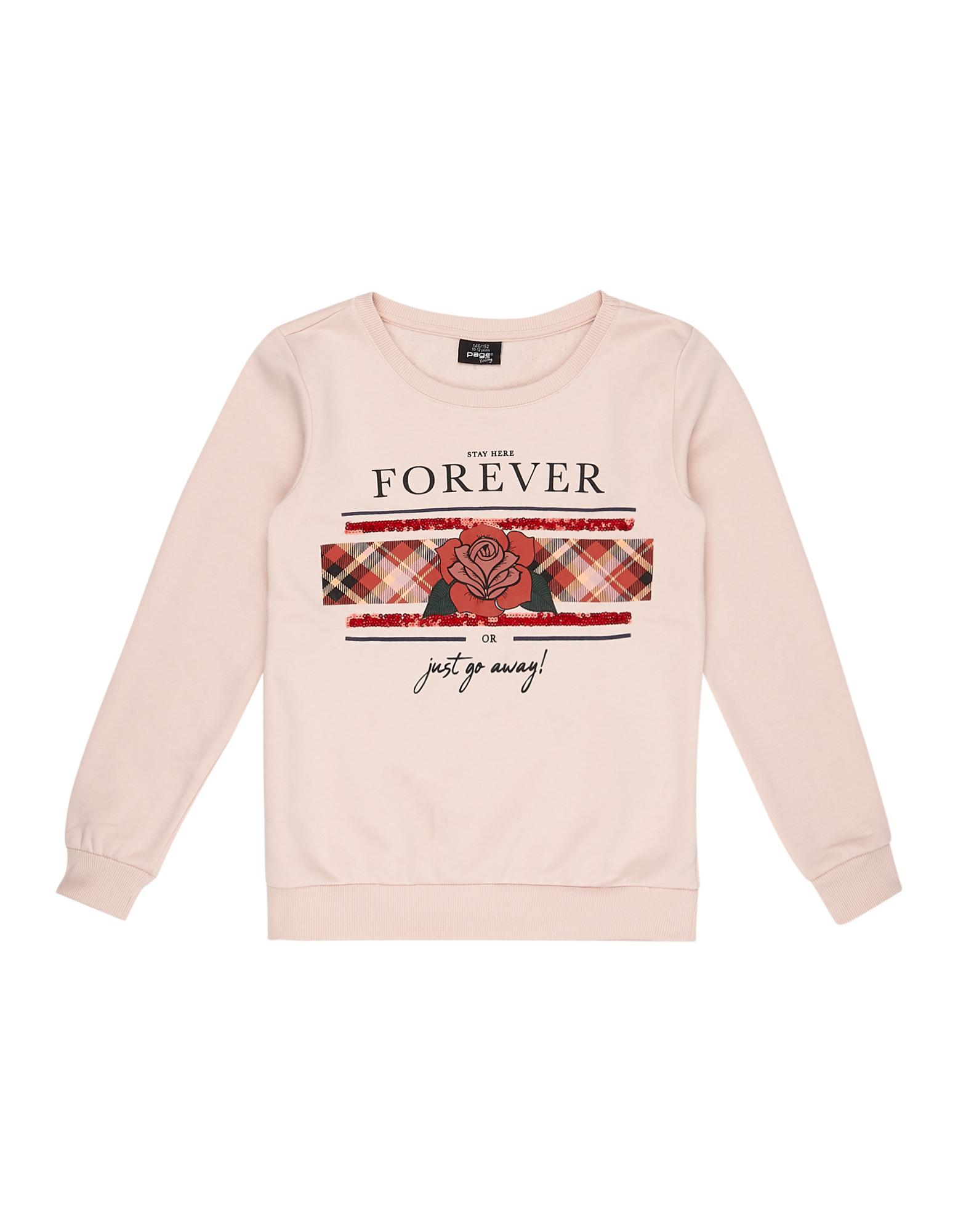Mädchen Sweatshirt mit Print und Paillettenbesatz  | 81609961000101
