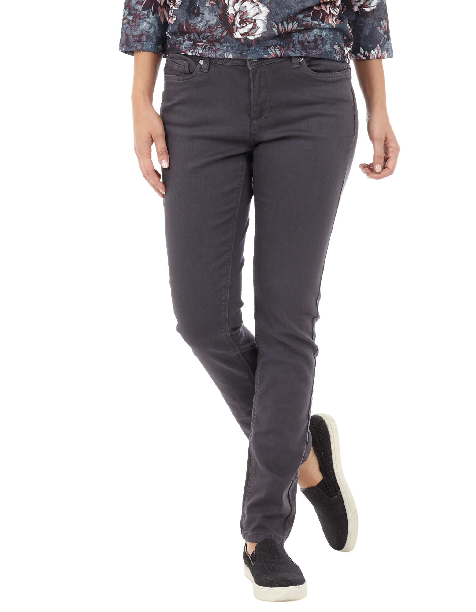 Damen Slim Fit Jeans aus Coloured Denim bunt,mehrfarbig,rot | 81552651720400