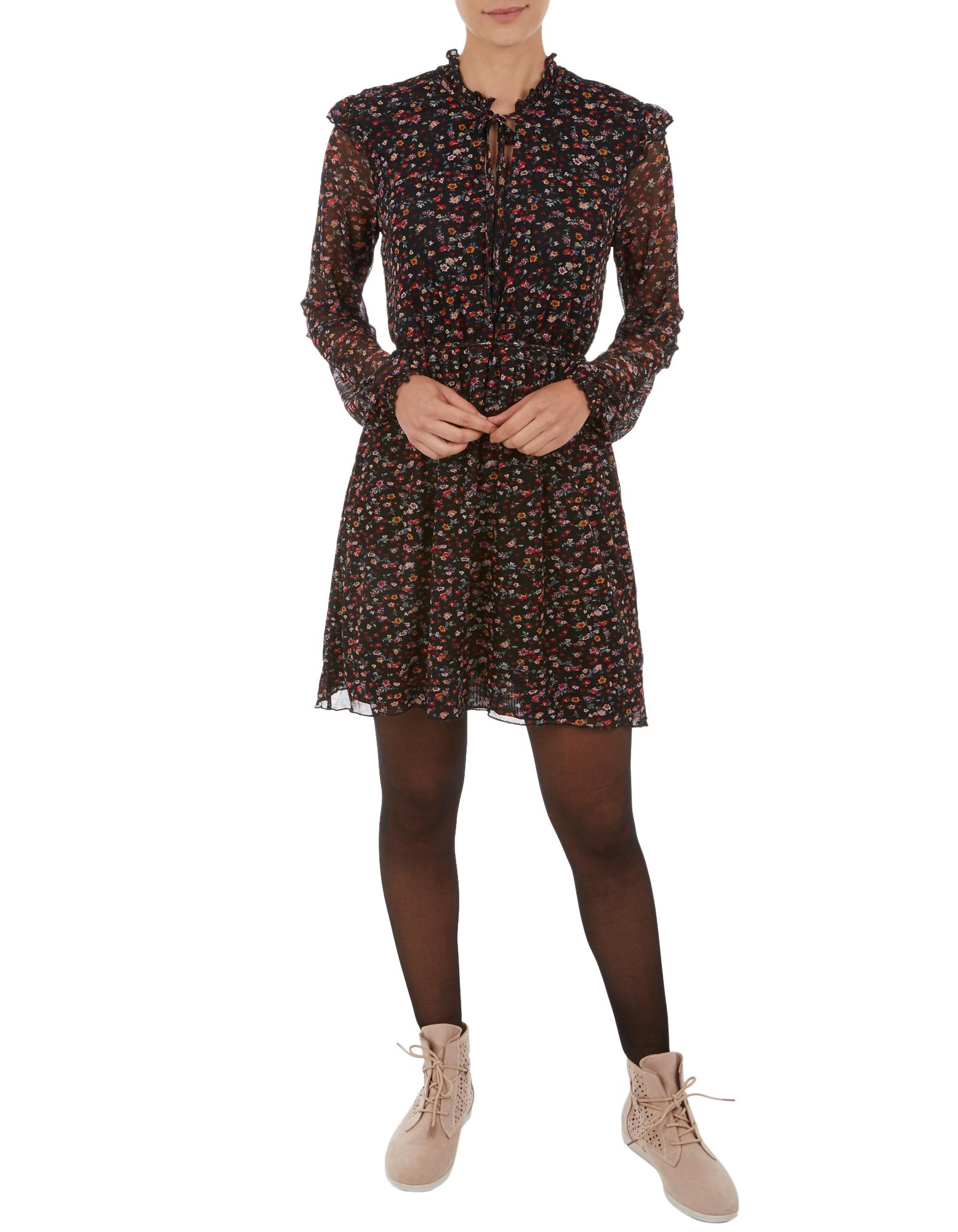 Damen Kleid mit floralem Allover-Muster  | 81546731800403