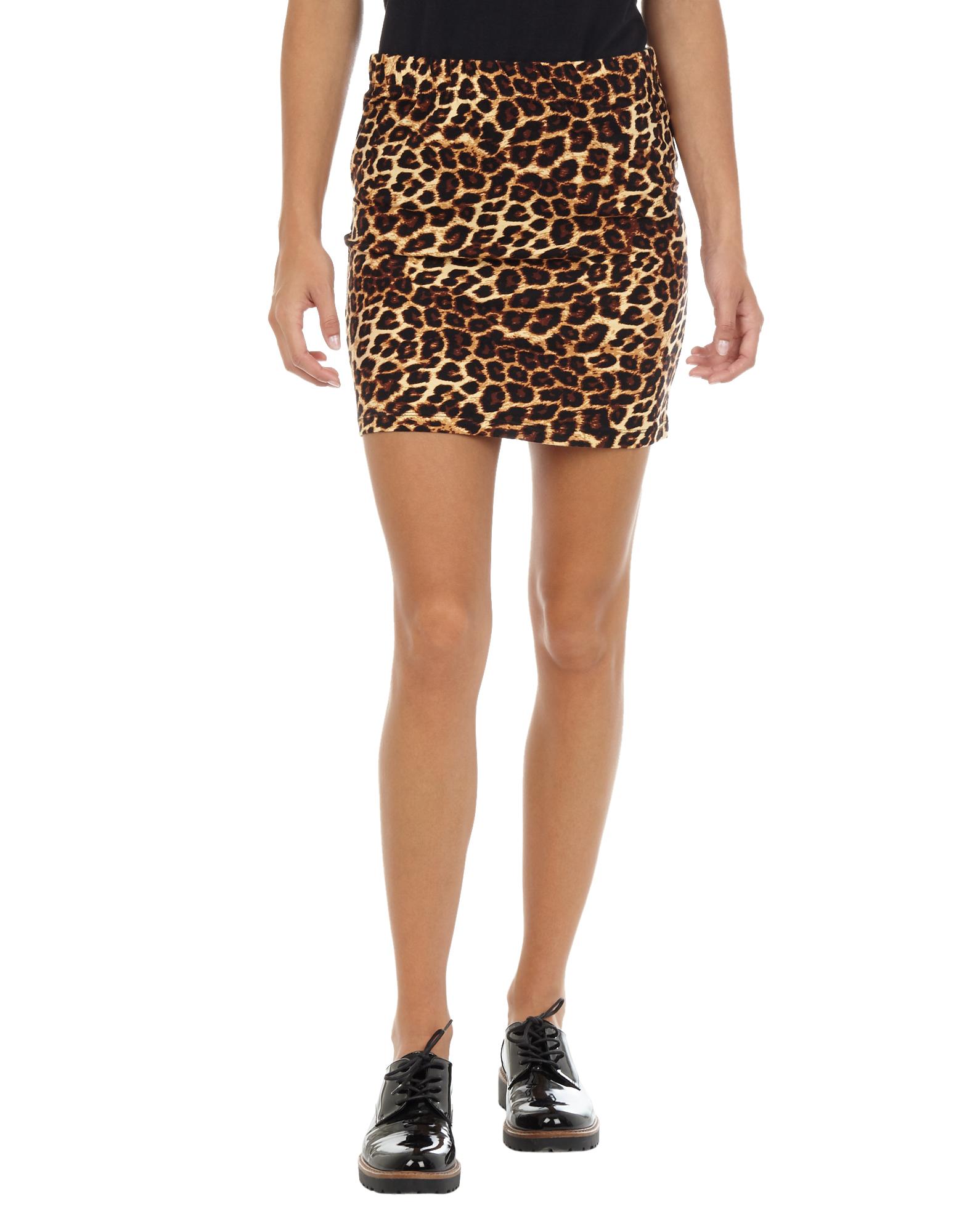 Damen Minirock mit Leopardenmuster leopard | 81550708220200