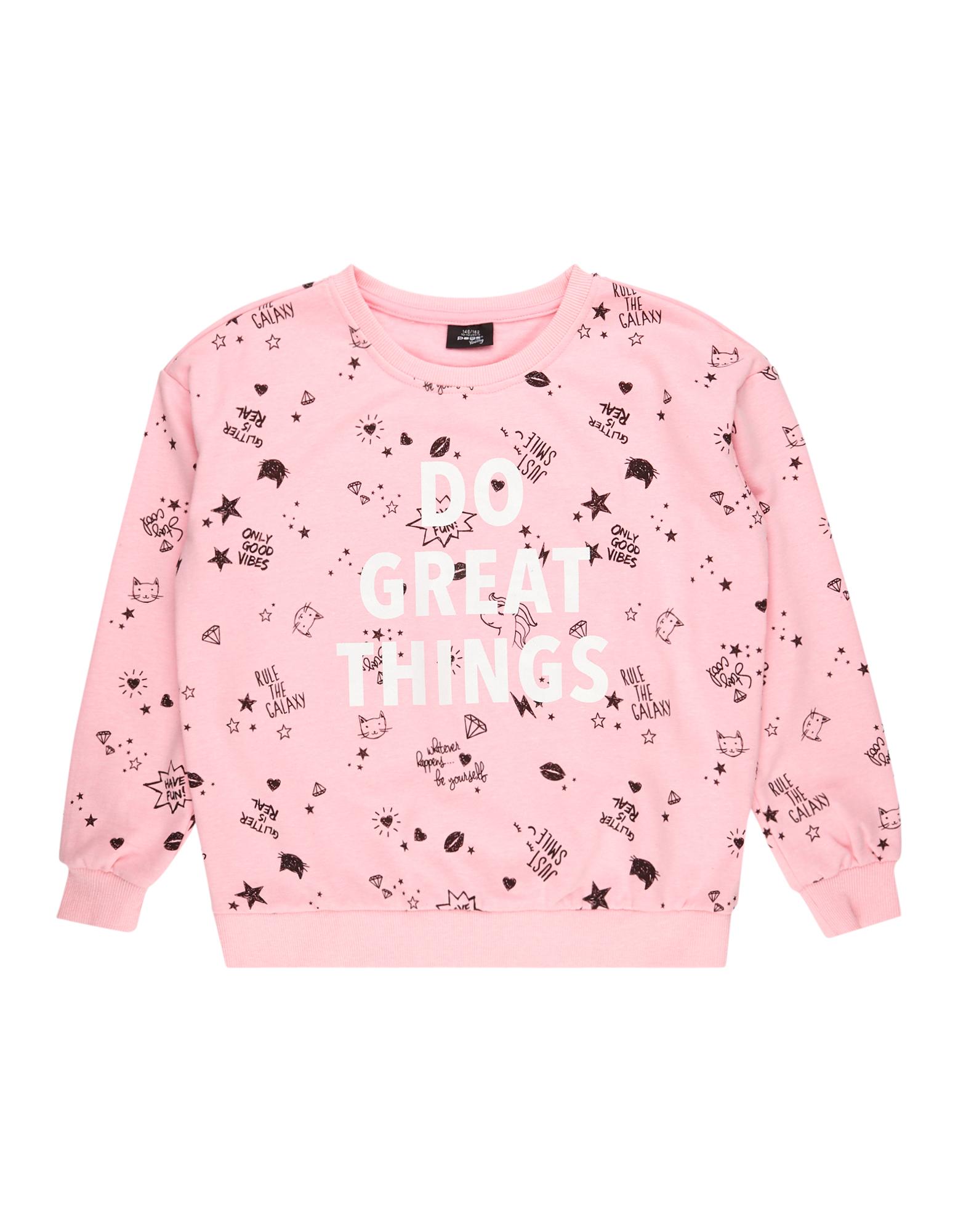 Mädchen Sweatshirt mit Allover-Print  | 81487964030109