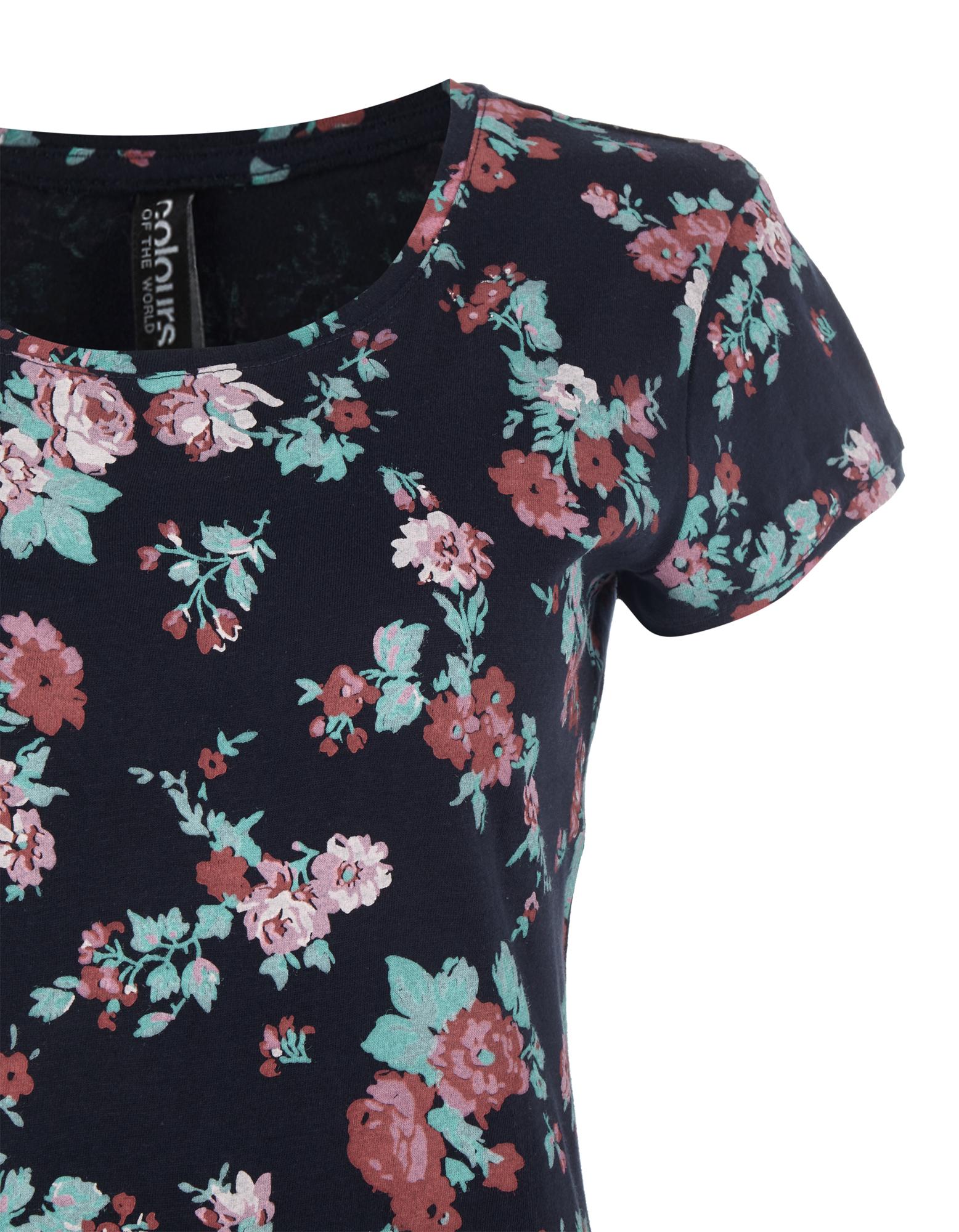 damen t shirt mit rosen print takko fashion. Black Bedroom Furniture Sets. Home Design Ideas
