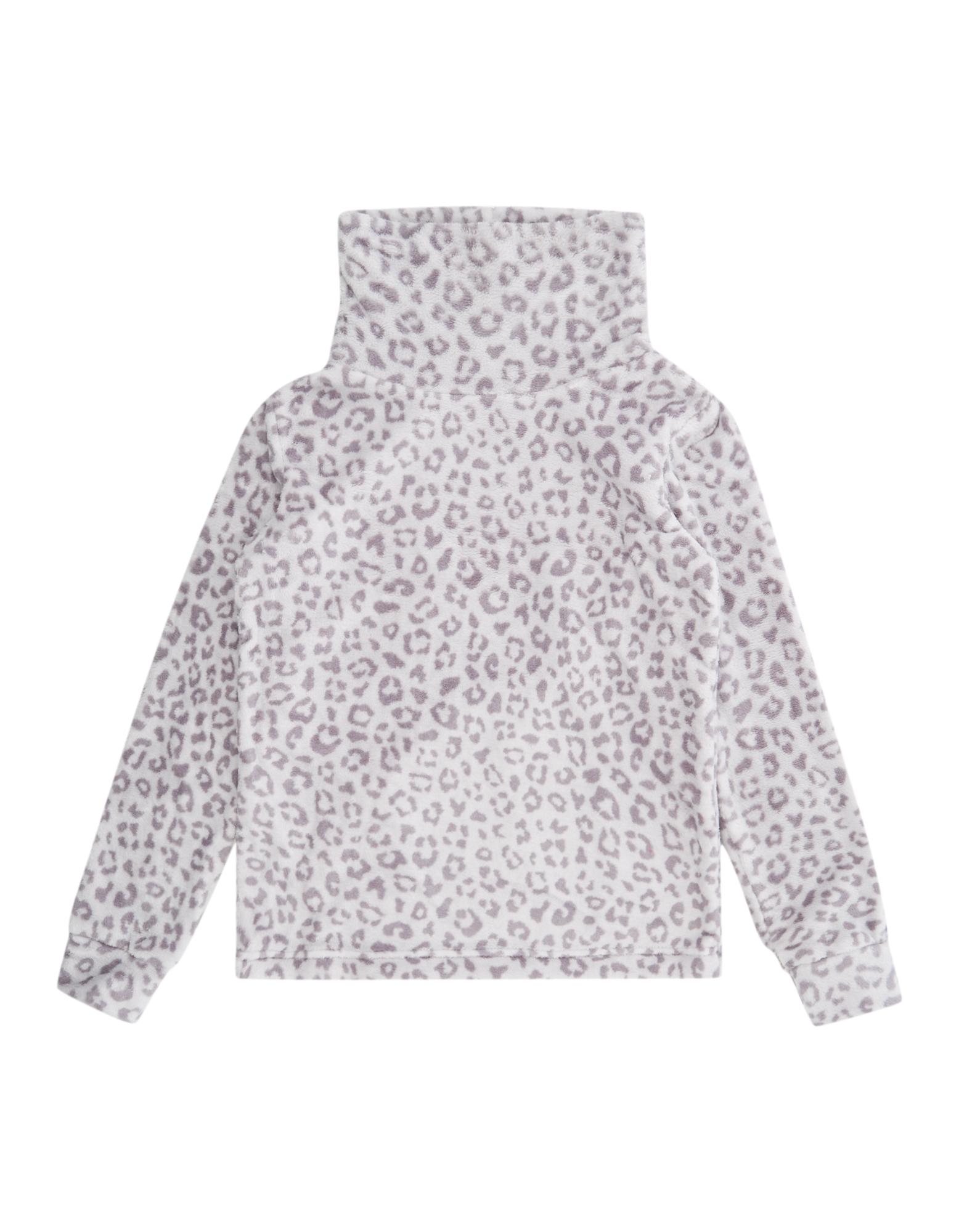 Mädchen Sweatshirt mit Tube Collar leopard | 81540631250108
