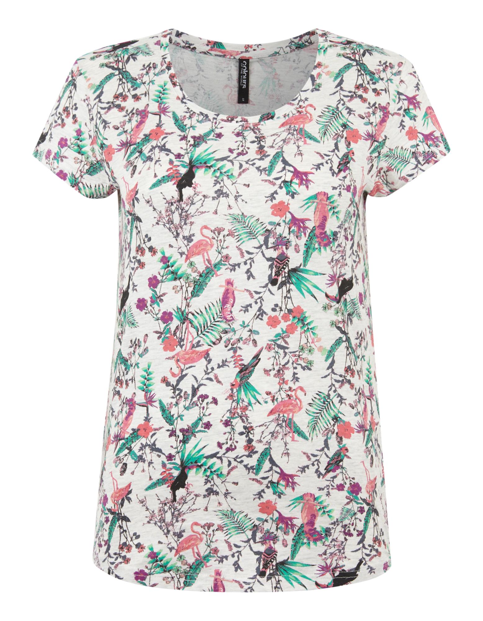 Damen Shirt mit Allover-Muster | Bekleidung > Shirts > Sonstige Shirts | Schneeweiß | Takko