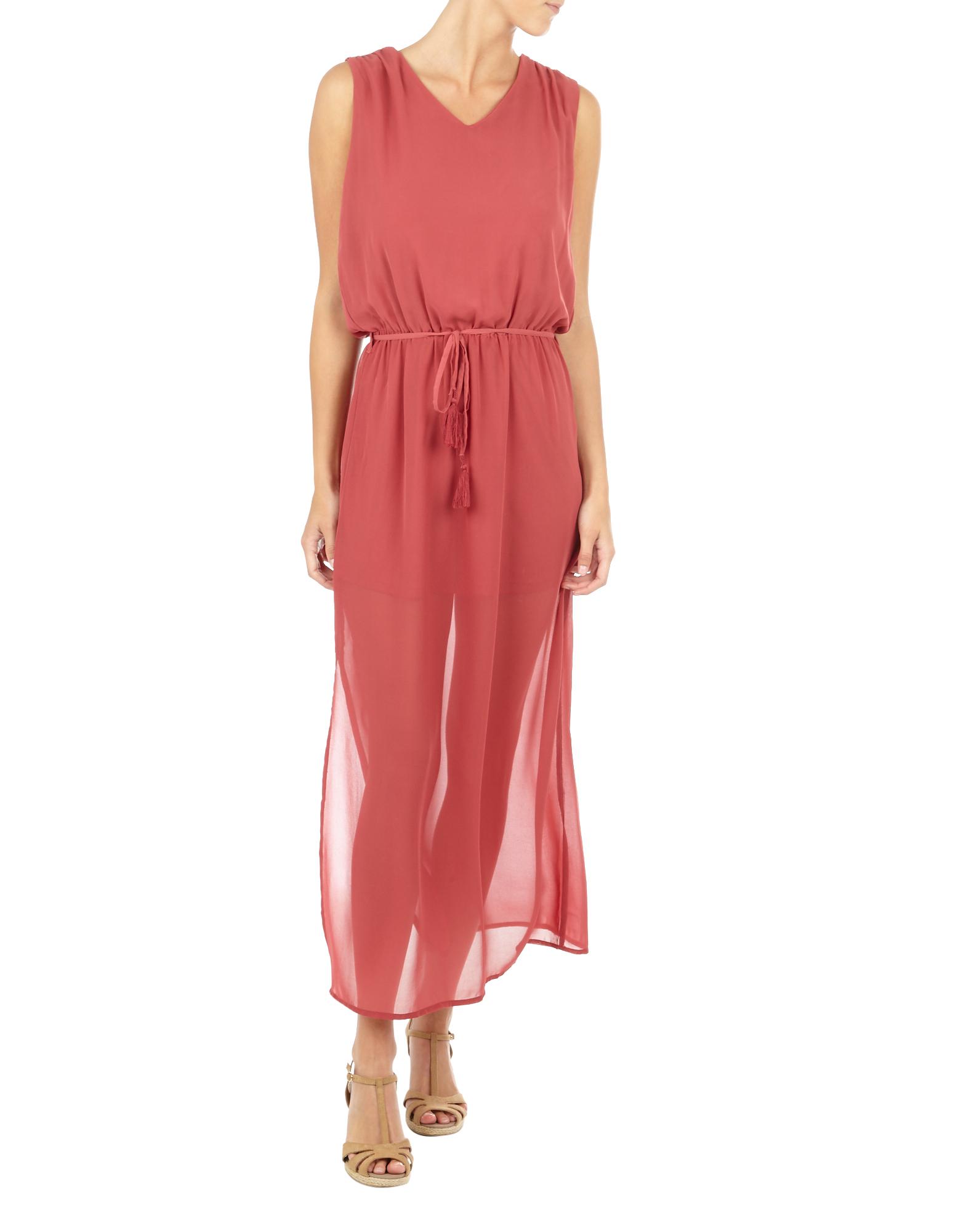 Damen Maxikleid mit Taillenband  | 81504893600705