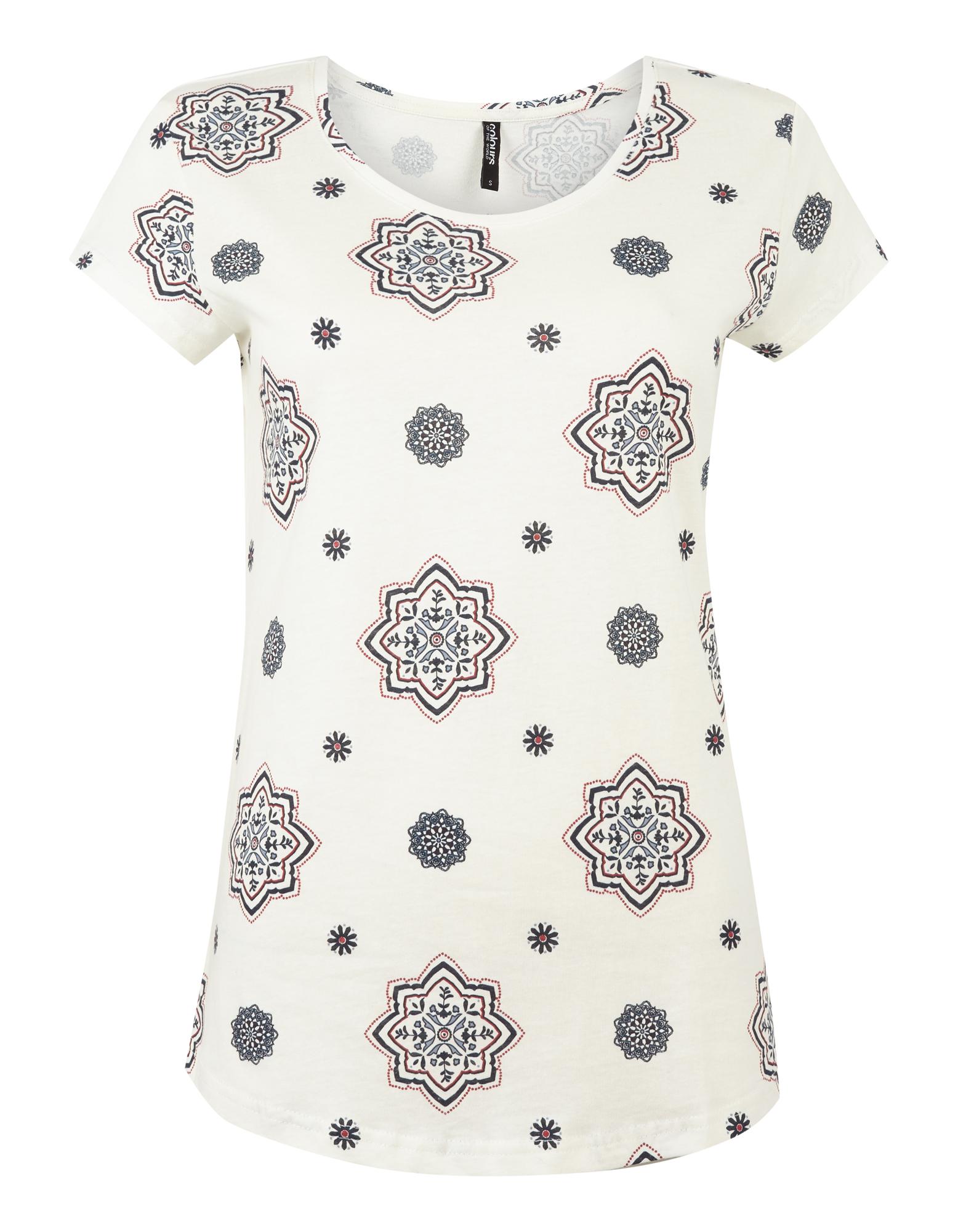 fcbc153b1e63b6 Damen T-Shirt mit Allover-Muster - Takko Fashion