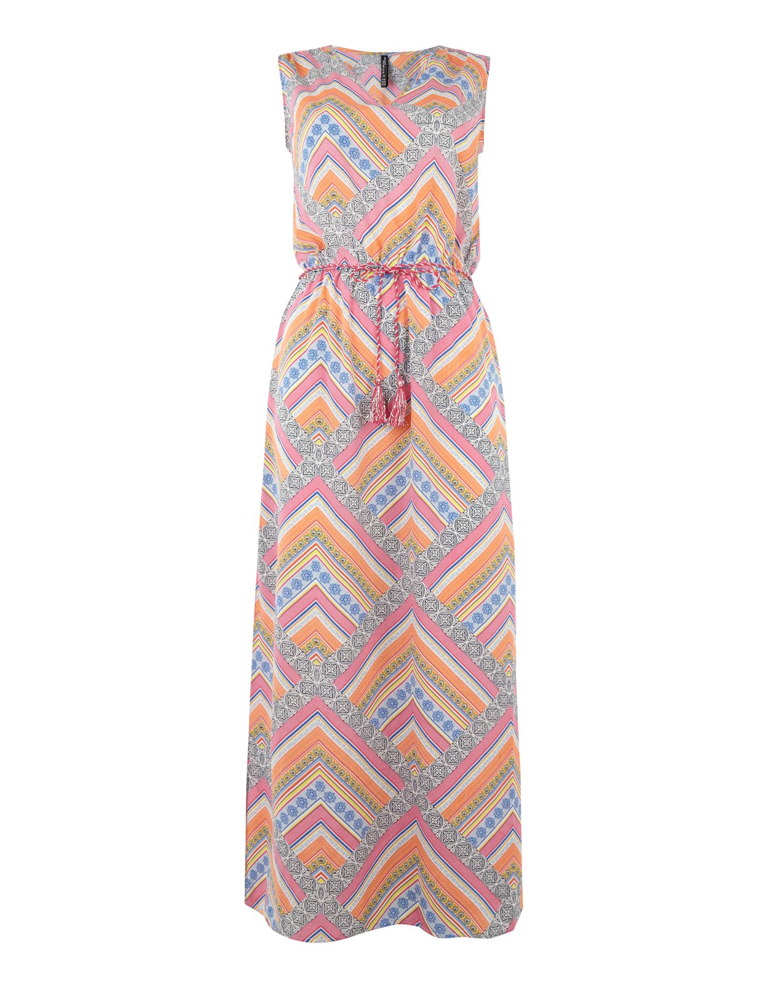 Damen Maxikleid mit Mustermix bunt,mehrfarbig | 81452019800303