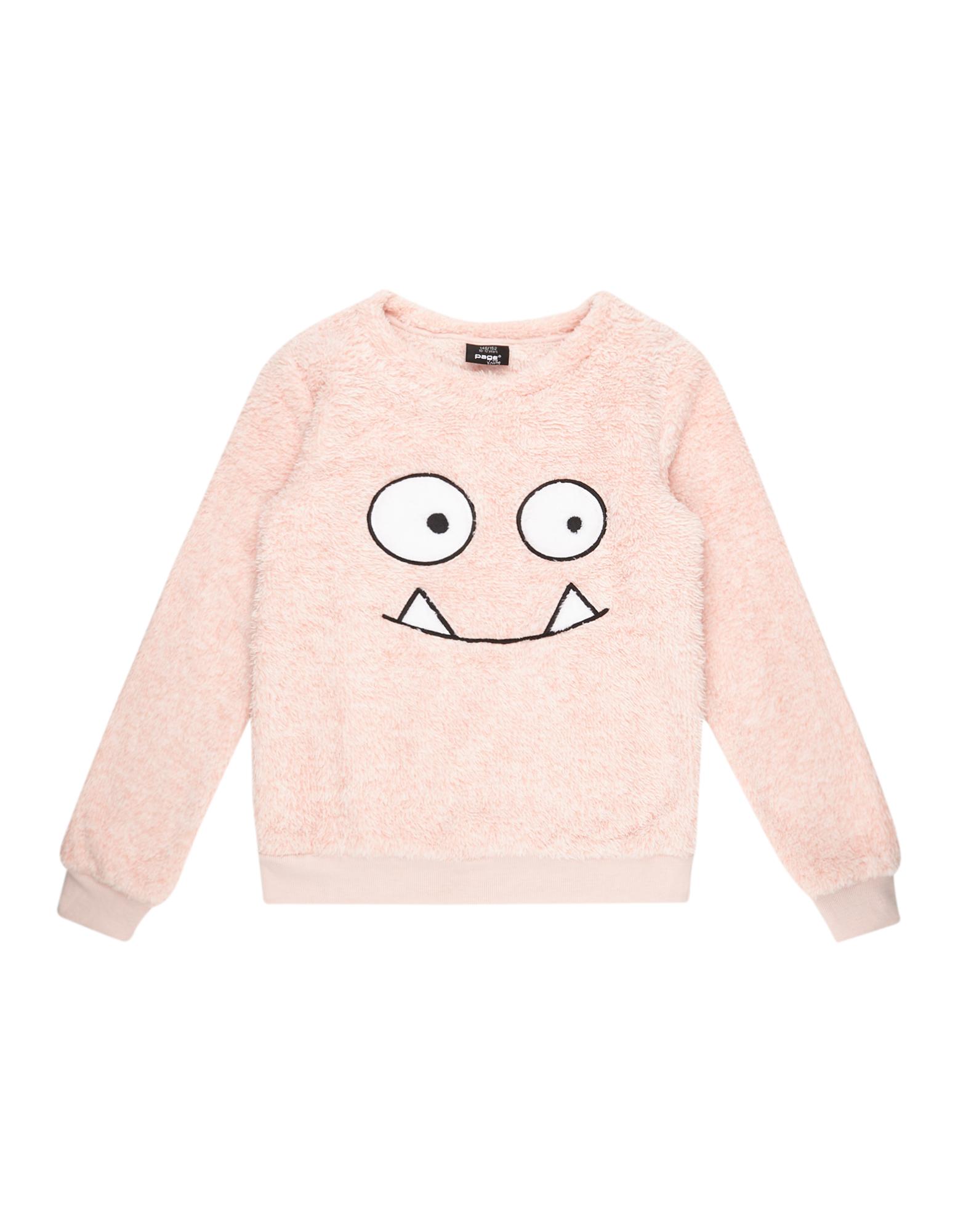 Mädchen Sweatshirt aus Teddyfell  | 81486744220105