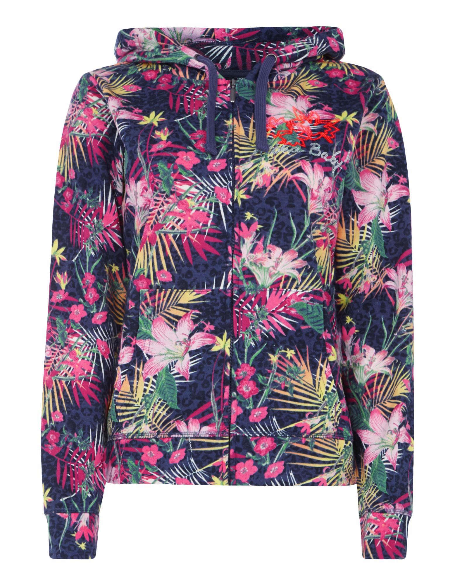 Damen Sweatjacke mit Allover-Muster - Takko Fashion