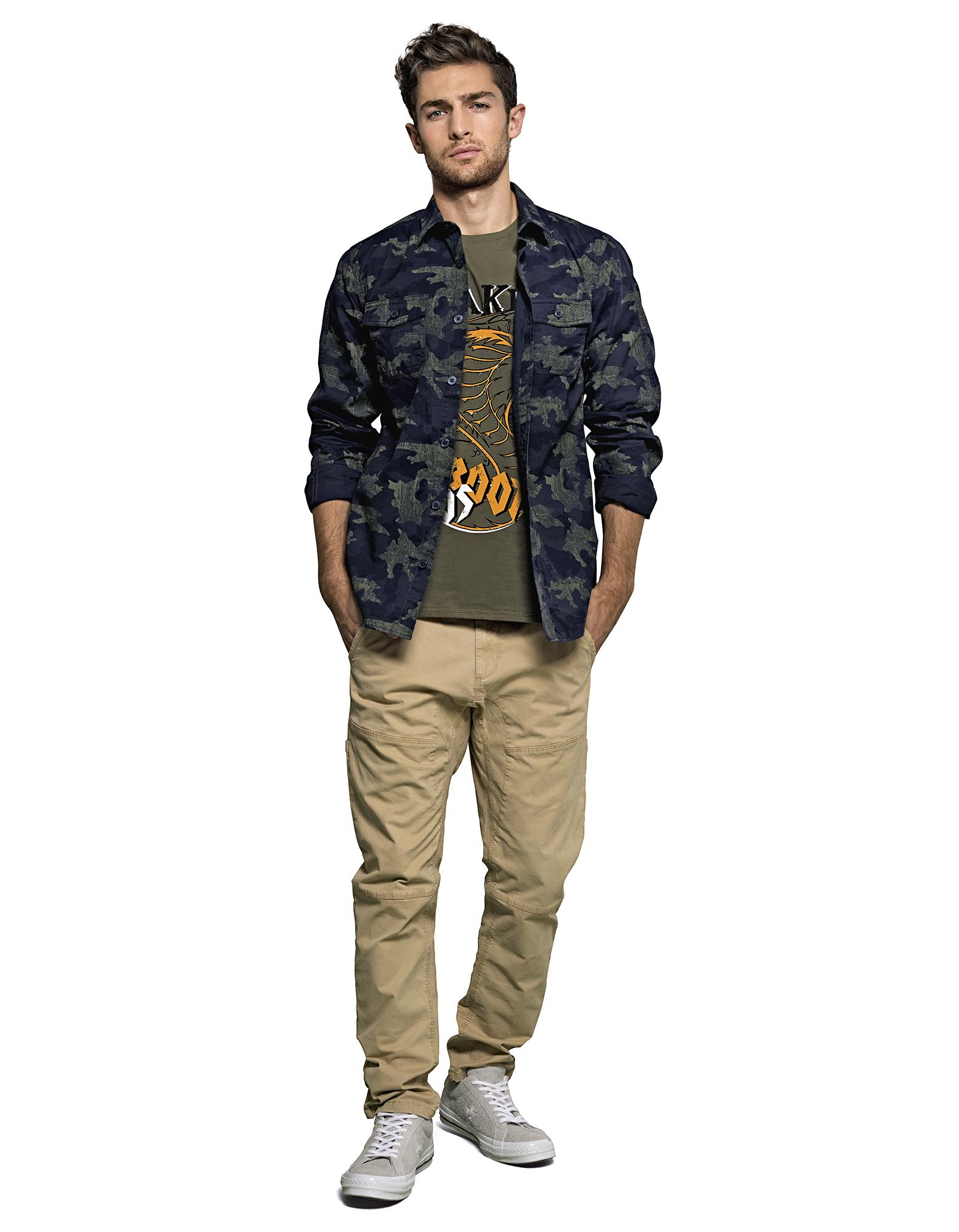 herren hemd mit camouflage muster takko fashion. Black Bedroom Furniture Sets. Home Design Ideas